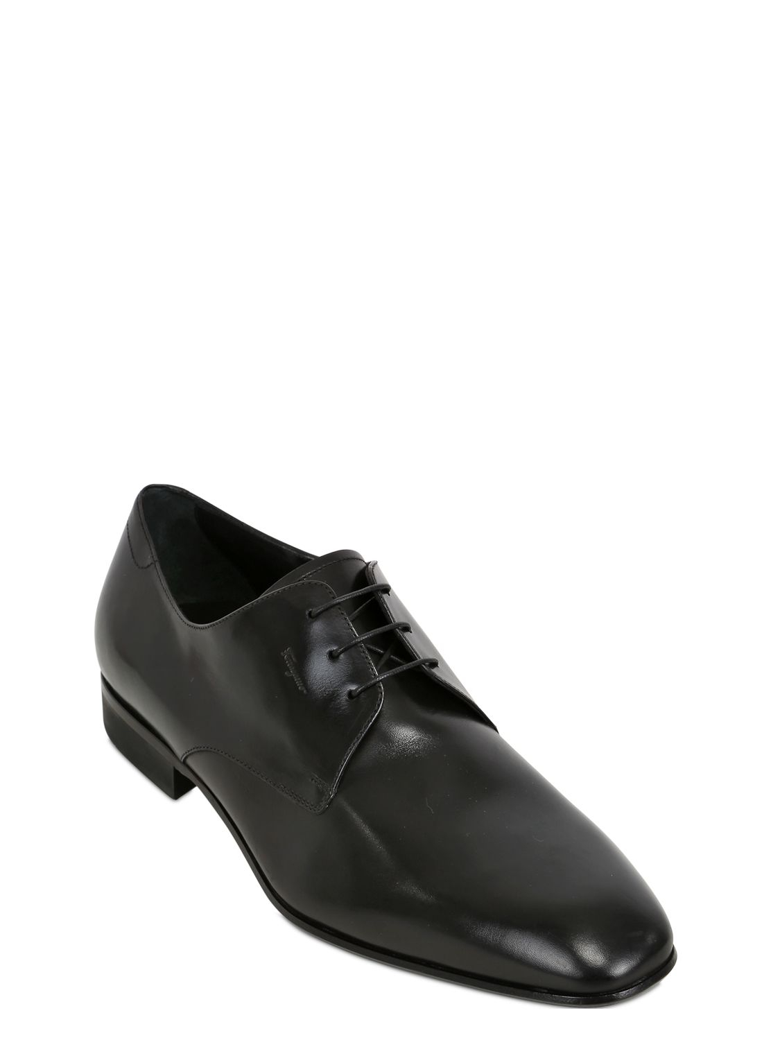 Ferragamo Palagio Leather Derby Shoes