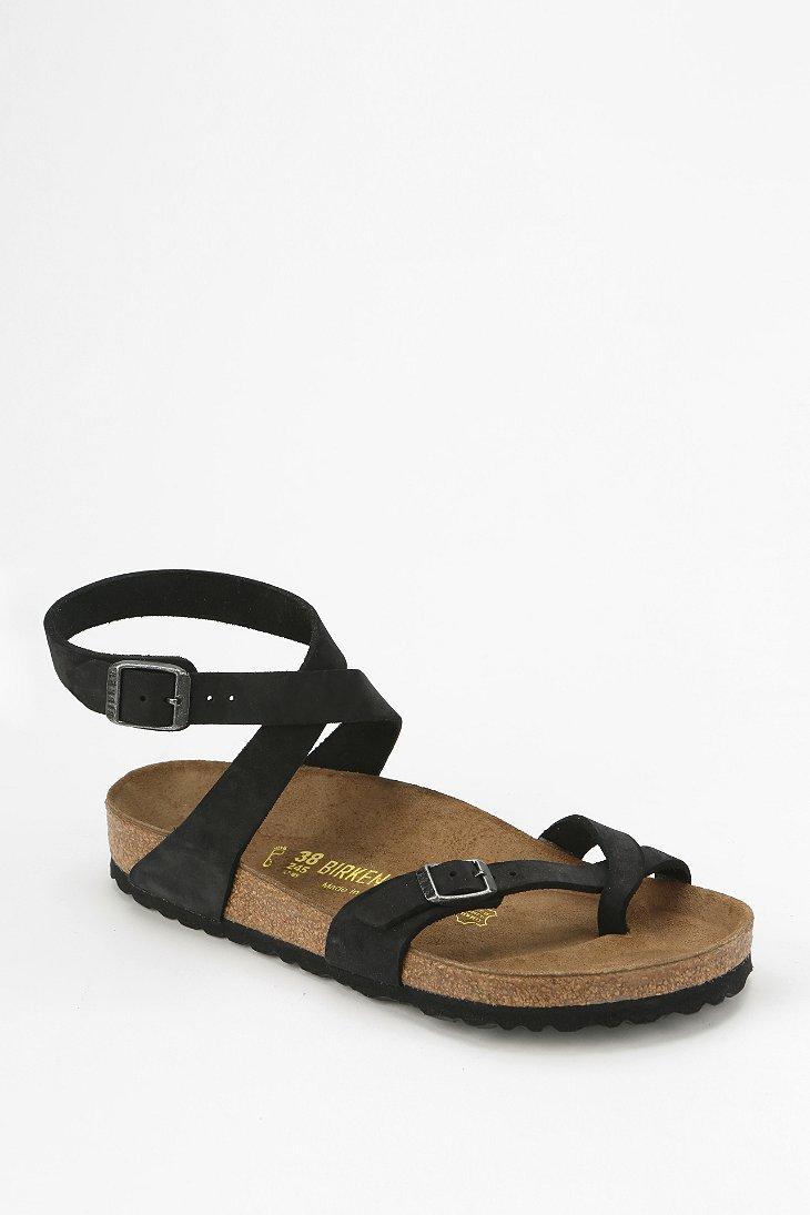 Birkenstock Yara Ankle Wrap Sandal In Black Lyst