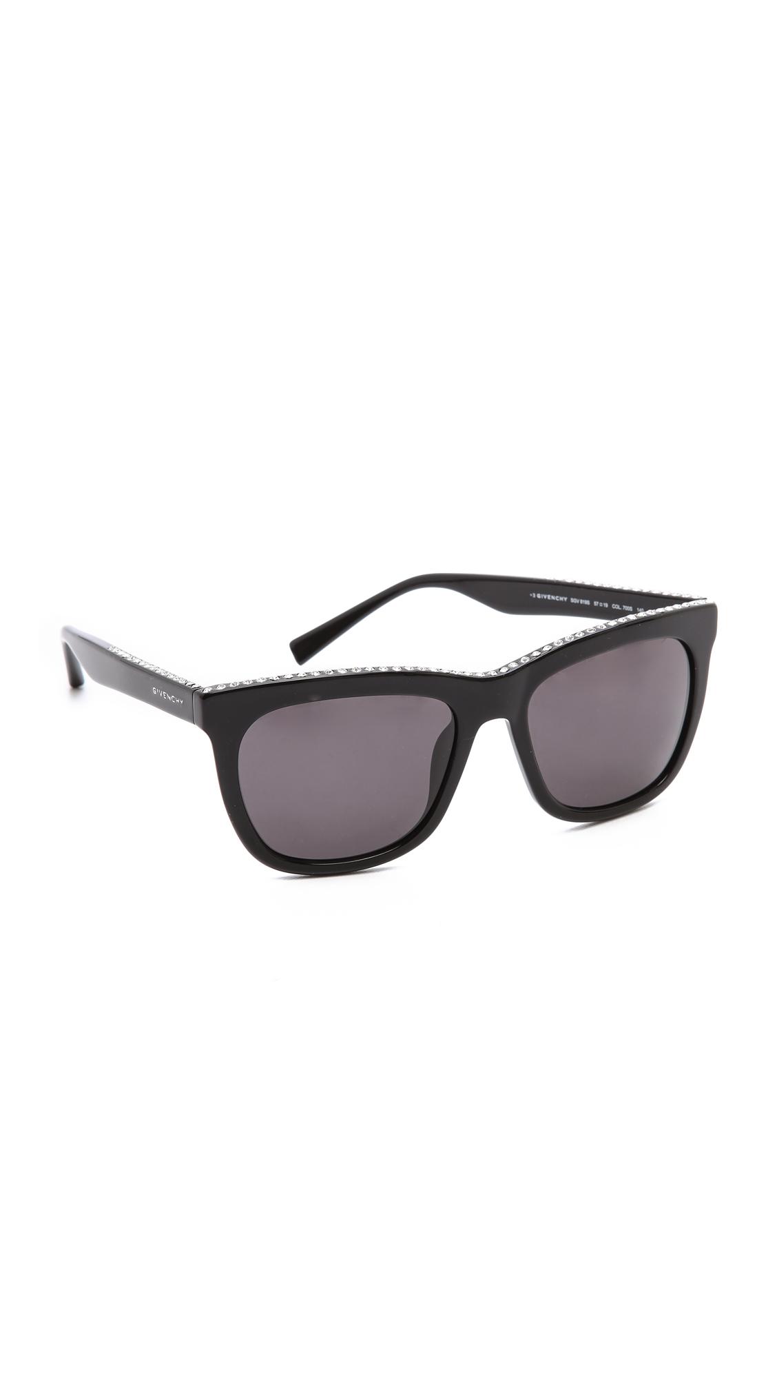 a110e2a9b1 Lyst - Givenchy Swarovski Crystal Rim Sunglasses Blacksmoke in Black