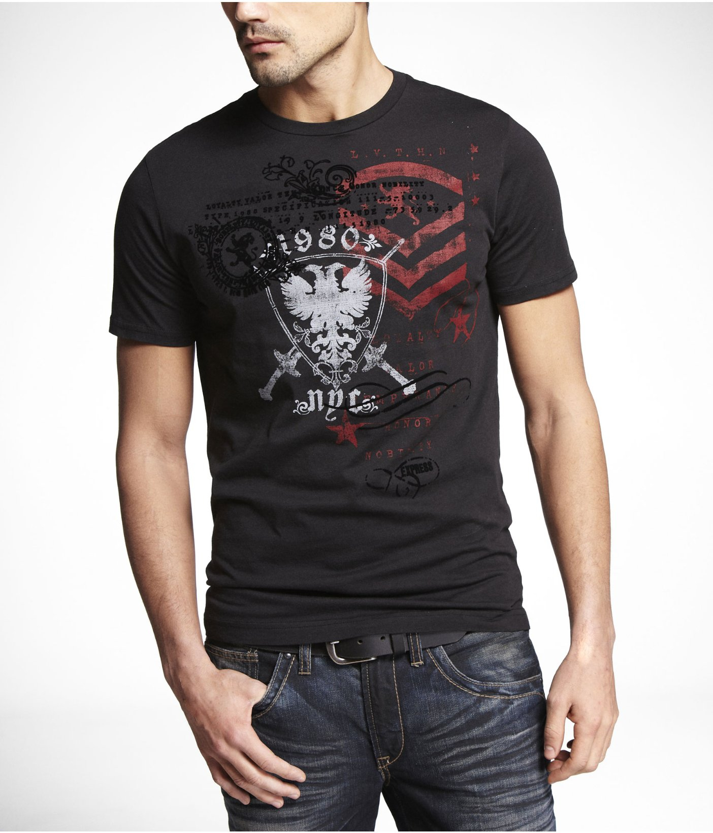 Express Classic Graphic Tee Triple Chevy in Black for Men ...