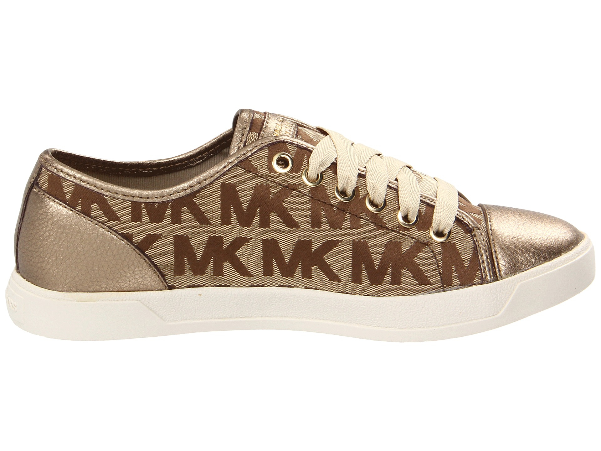 lyst michael michael kors mk city sneaker in brown. Black Bedroom Furniture Sets. Home Design Ideas
