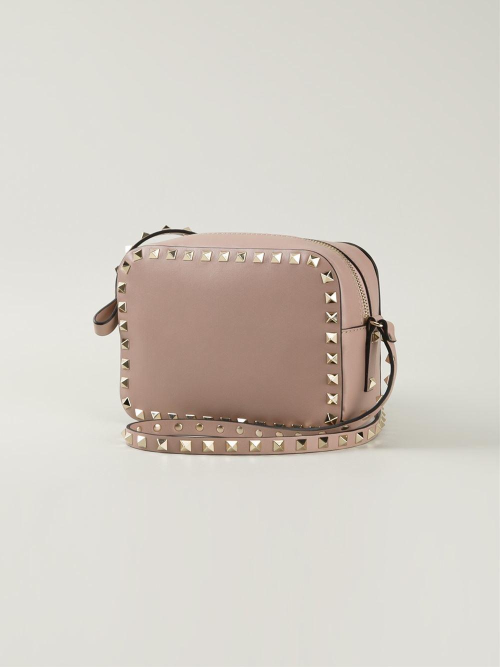 Valentino Rockstud Crossbody Bag In Natural  Lyst-6787