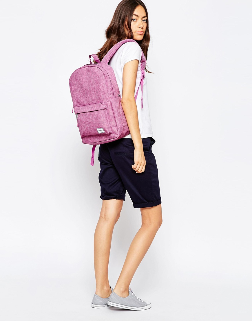 c6f7359562 Lyst - Herschel Supply Co. Classic Backpack In Pink Crosshatch in Pink