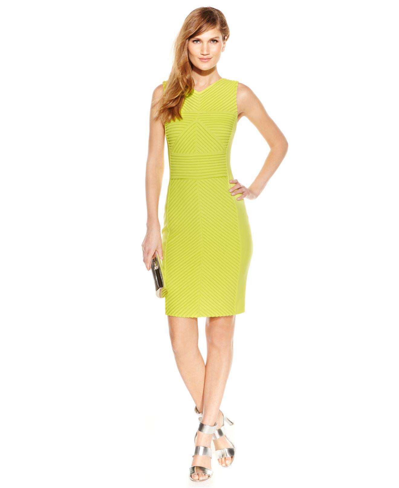 Calvin Klein Yellow Dress
