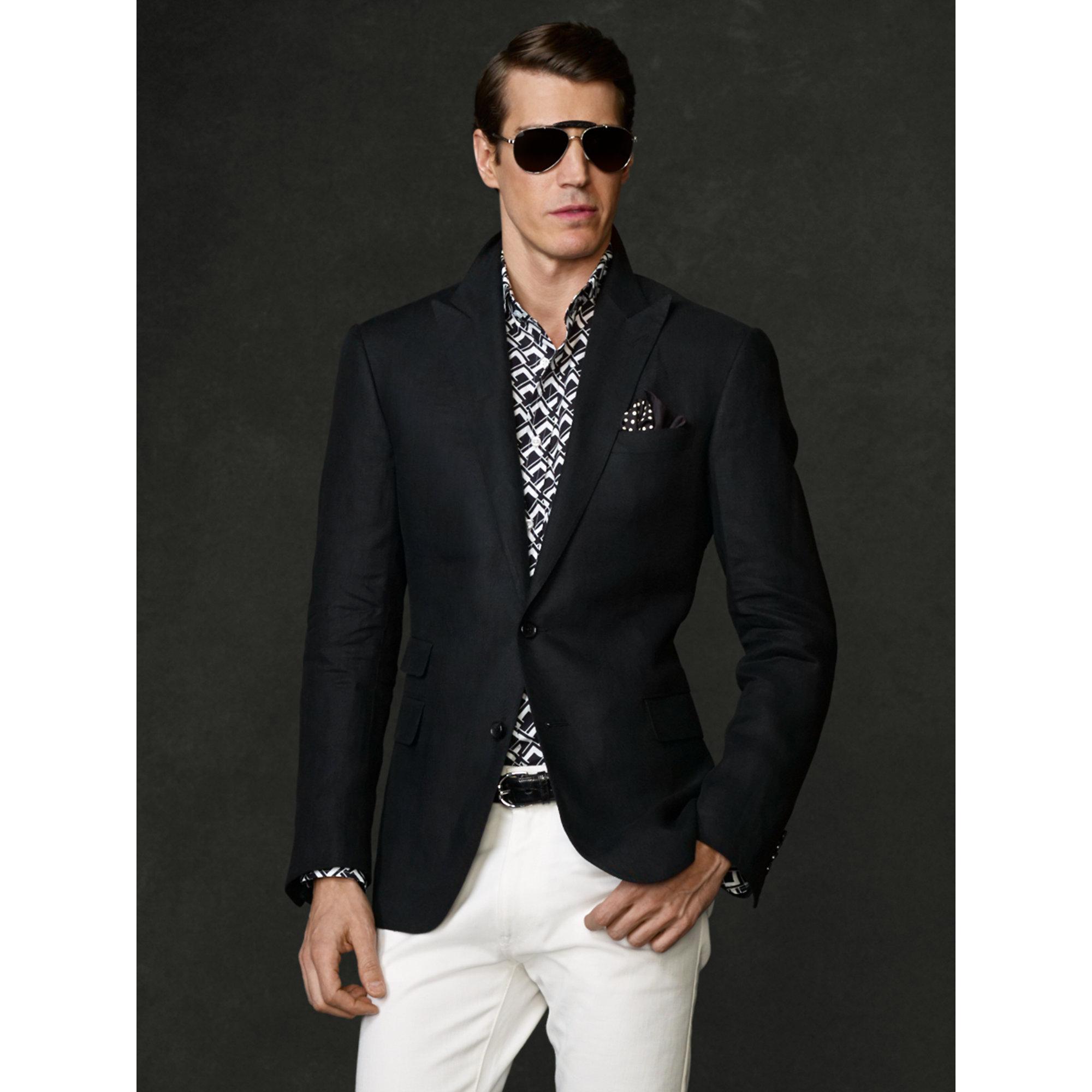 2b67efb40c86 Ralph Lauren Purple Label Custom-Fit Linen Sport Coat in Black for ...