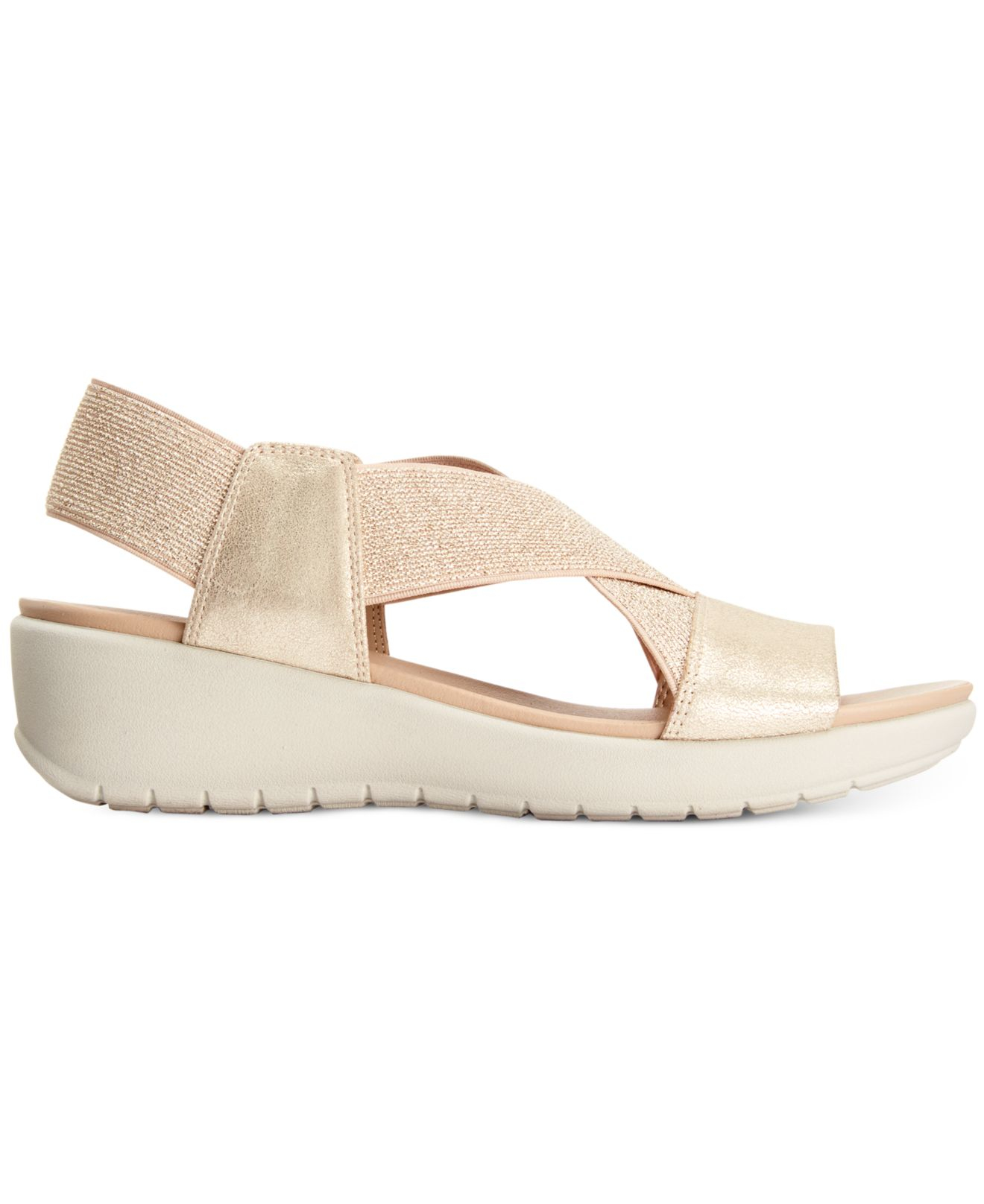 Easy Spirit Wiley Wedge Sandals In Natural Lyst