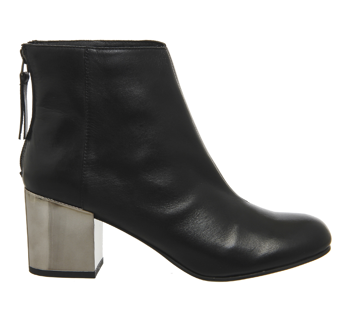 office inferno block heel ankle boots in black lyst
