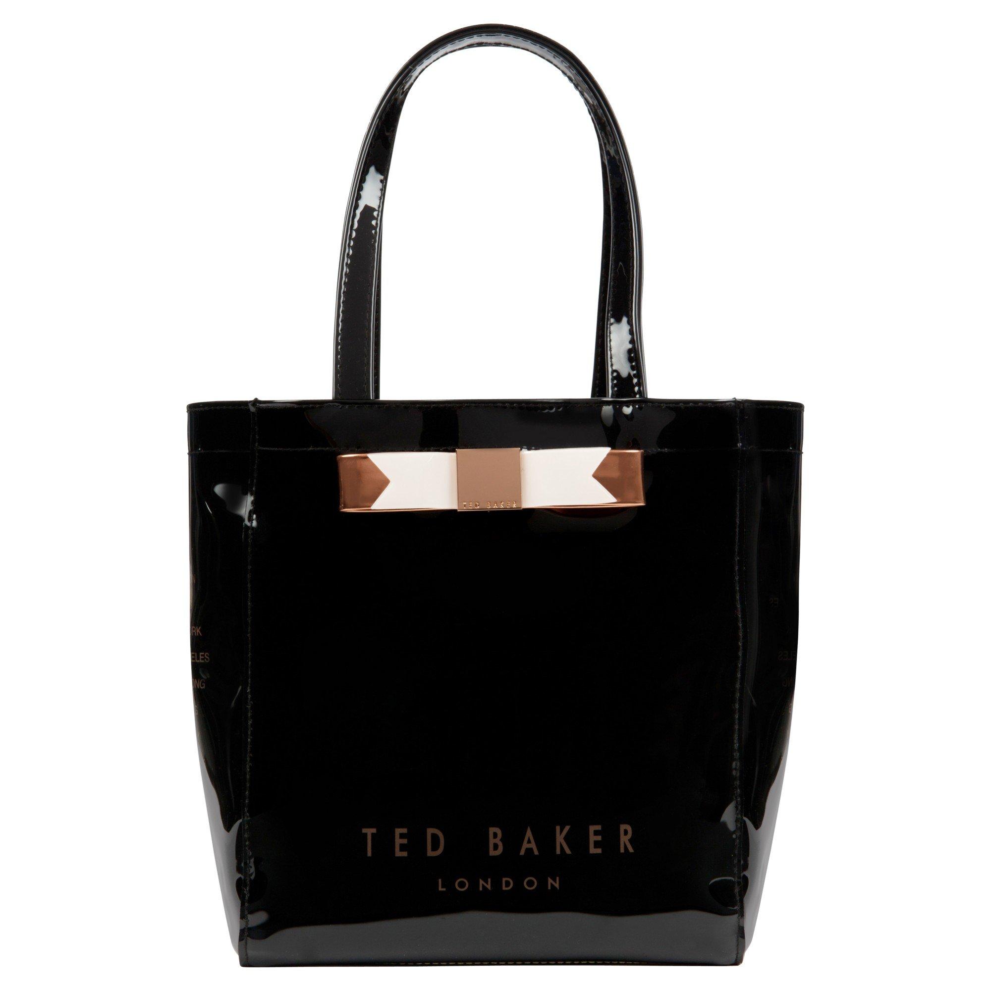 e9d684733943f Ted Baker Revcon Small Bow Shopper Bag in Black