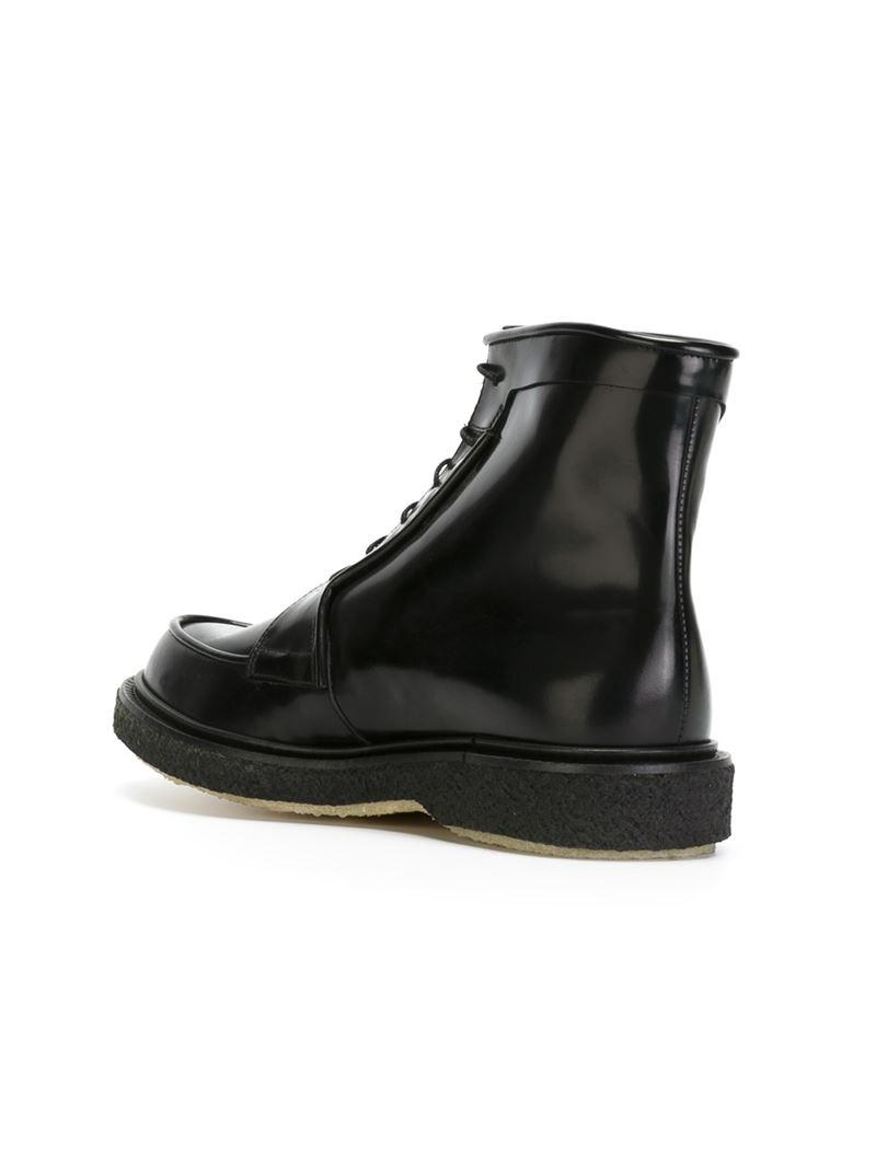 ADIEU PARIS Leather Lace Up Boots woEKT0