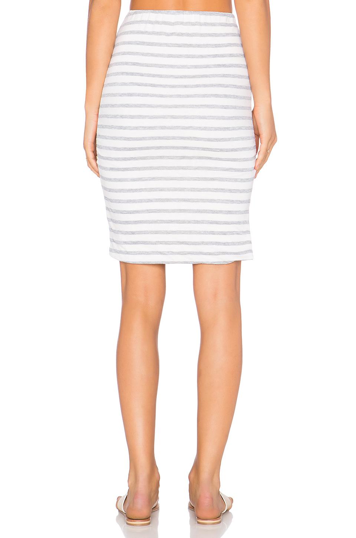 sundry stripe midi skirt in white seashell lyst