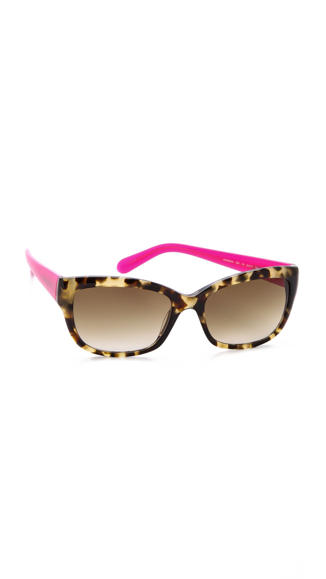 bc3f905485 Lyst - Kate Spade Johanna Sunglasses in Pink