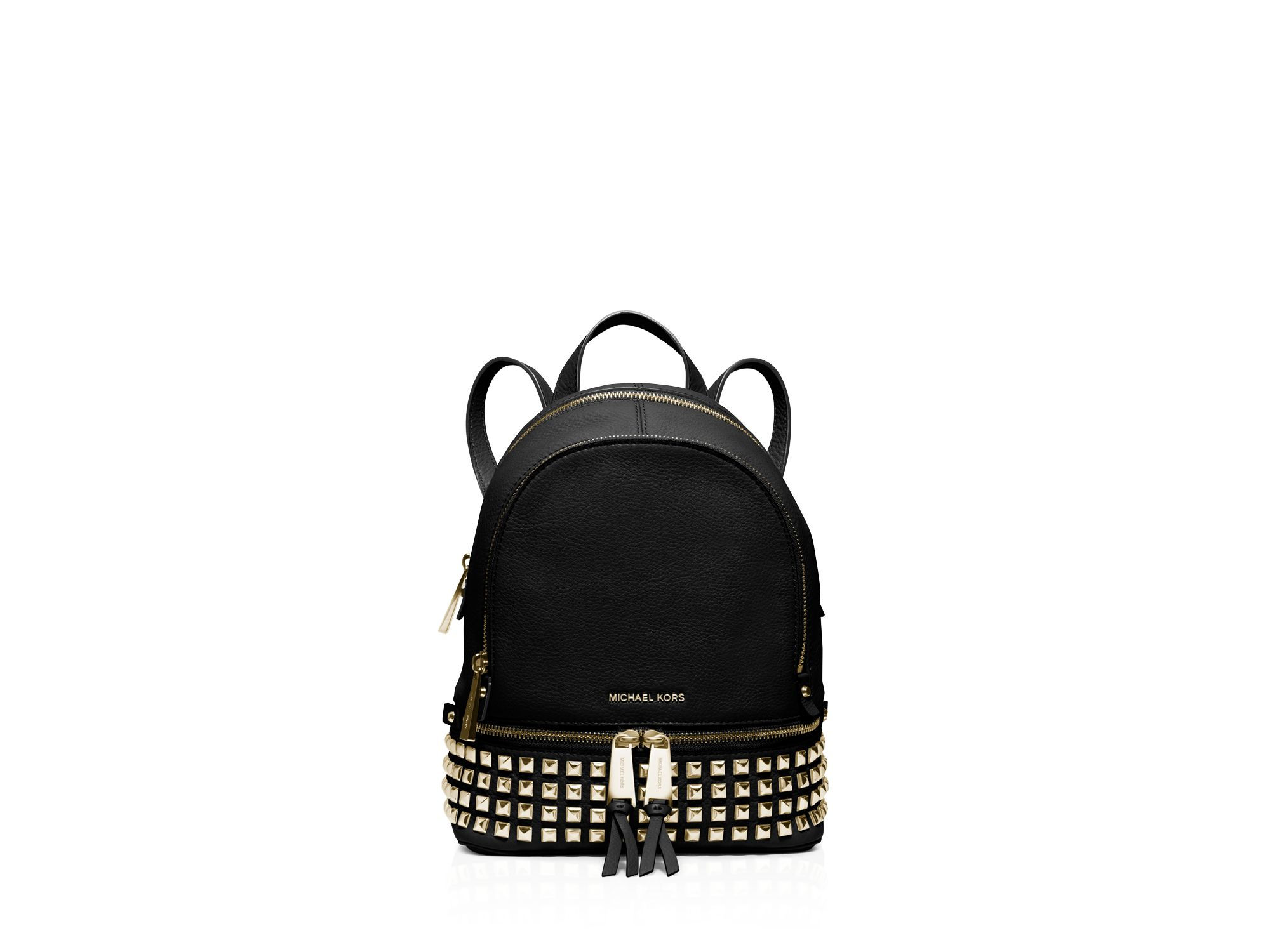 0c1640c23ebf ... shop usa lyst michael michael kors extra small rhea zip studded backpack  in d1b27 a683e 406ec