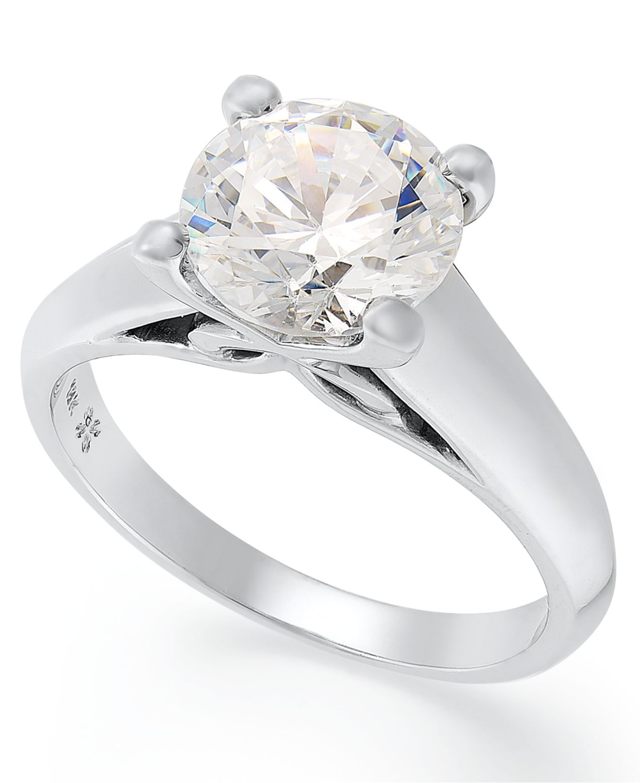 x3 certified solitaire engagement ring in 18k