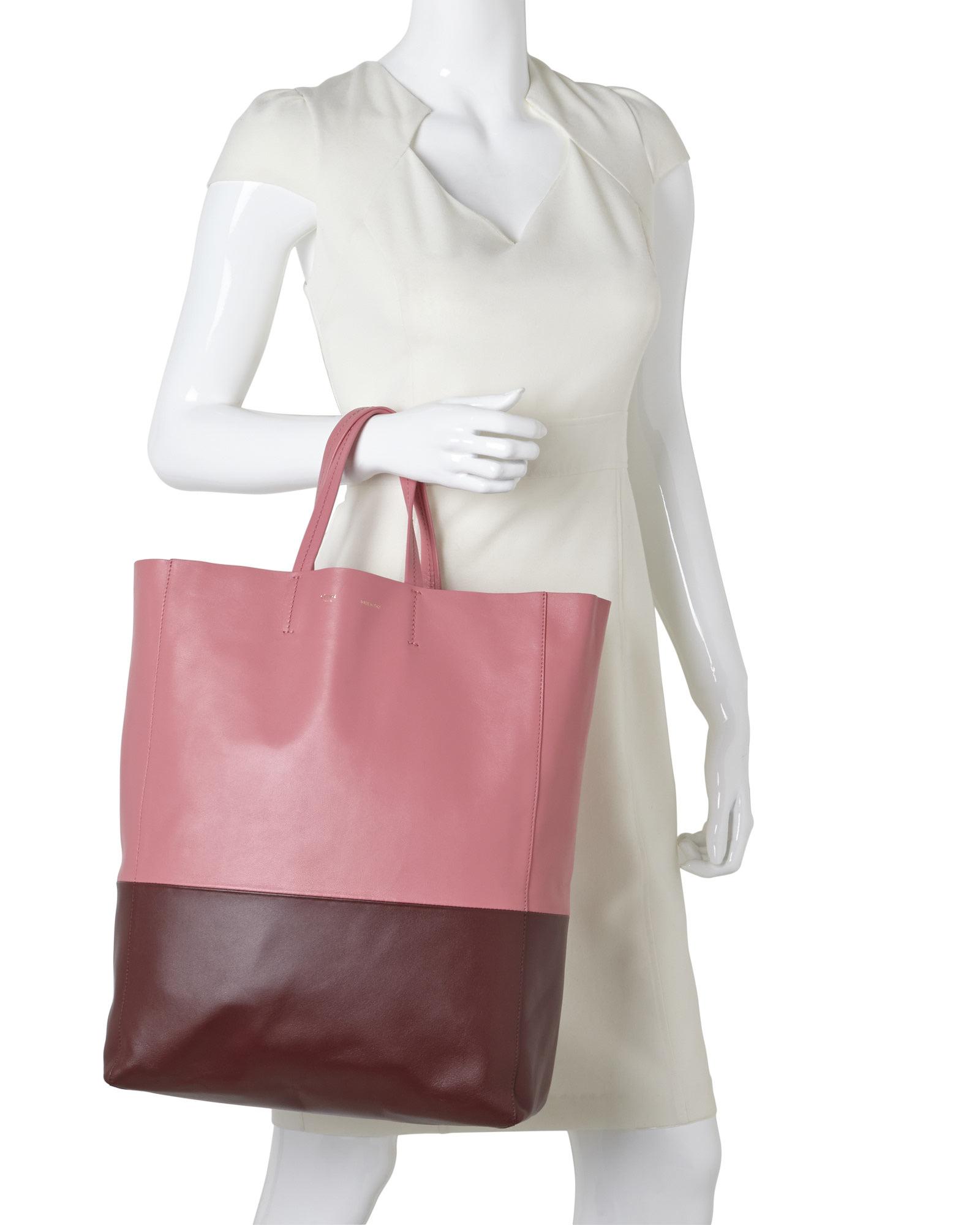 Lyst - Céline Cã‰Line Pink   Rust Vertical Tote in Pink 3cef54841e