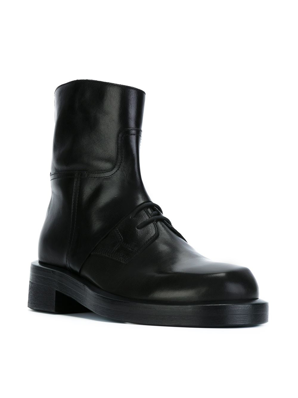 Ann Demeulemeester black patent leather chunky lace-up boots 2015 online latest collections sale online discount Manchester find great for sale visit online u0oUh0