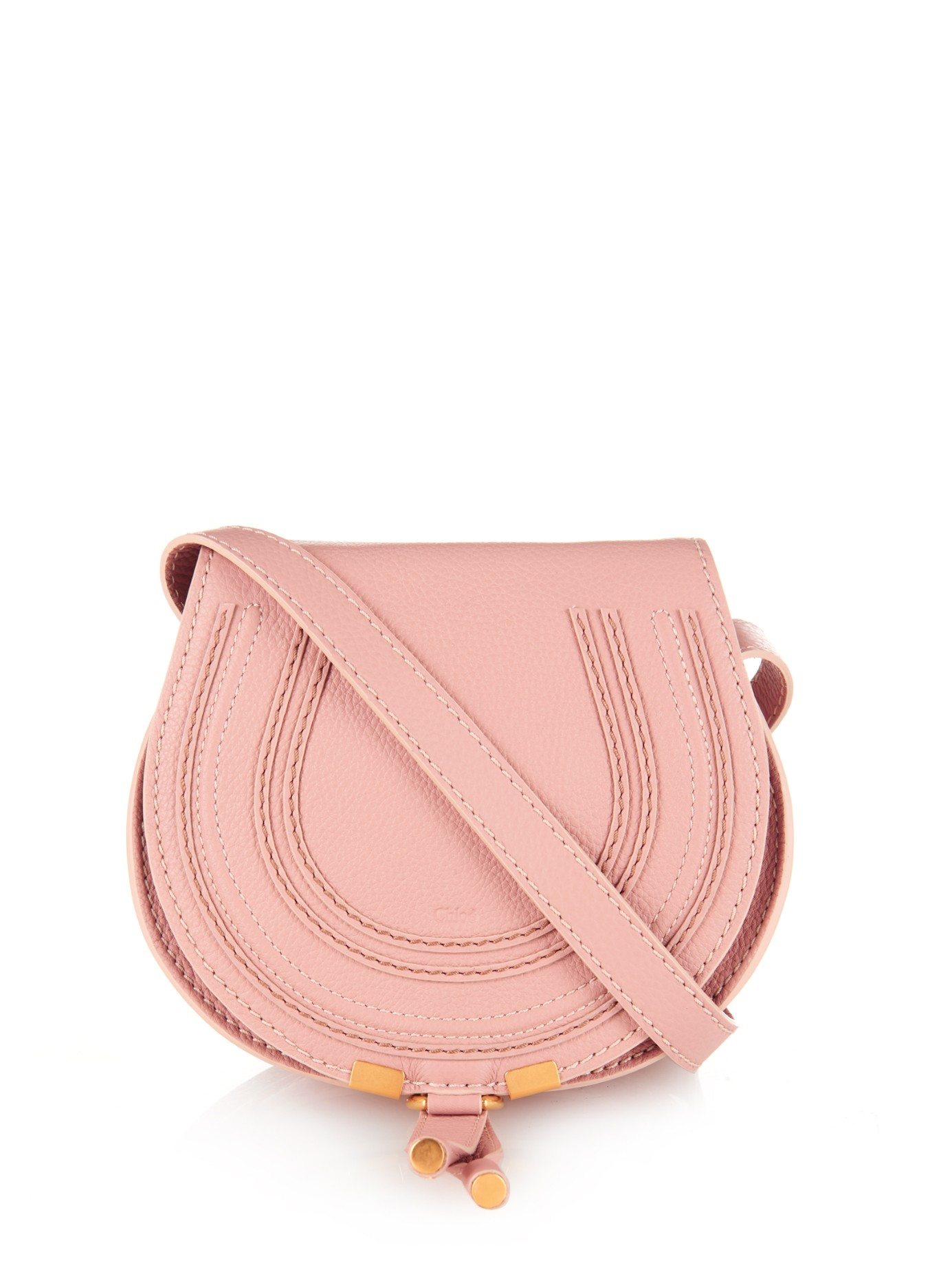 38a90339995 Chloé Marcie Mini Leather Cross-Body Bag in Pink - Lyst