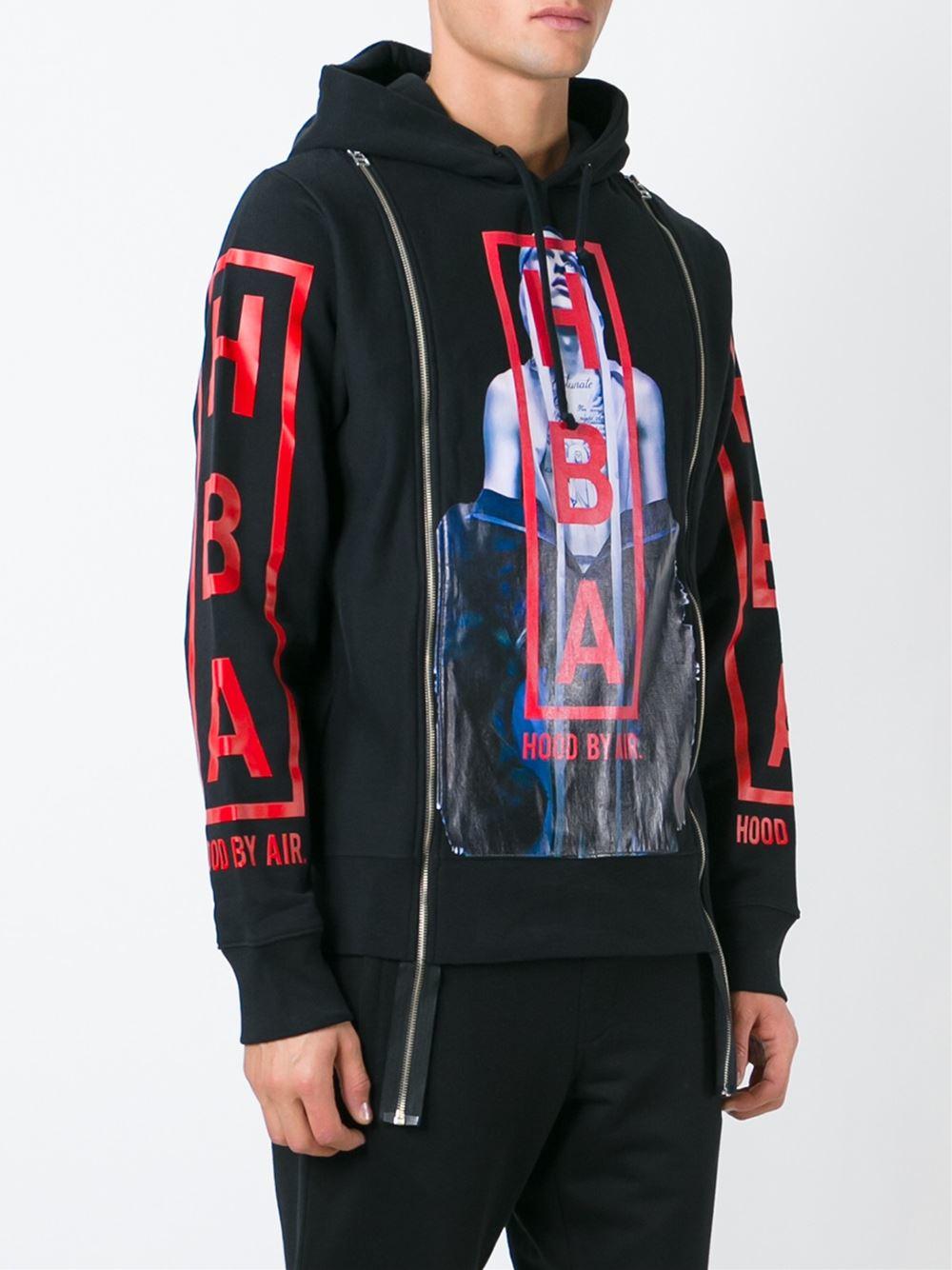 Hood By Air Tryptic Hoodie In Black For Men Lyst
