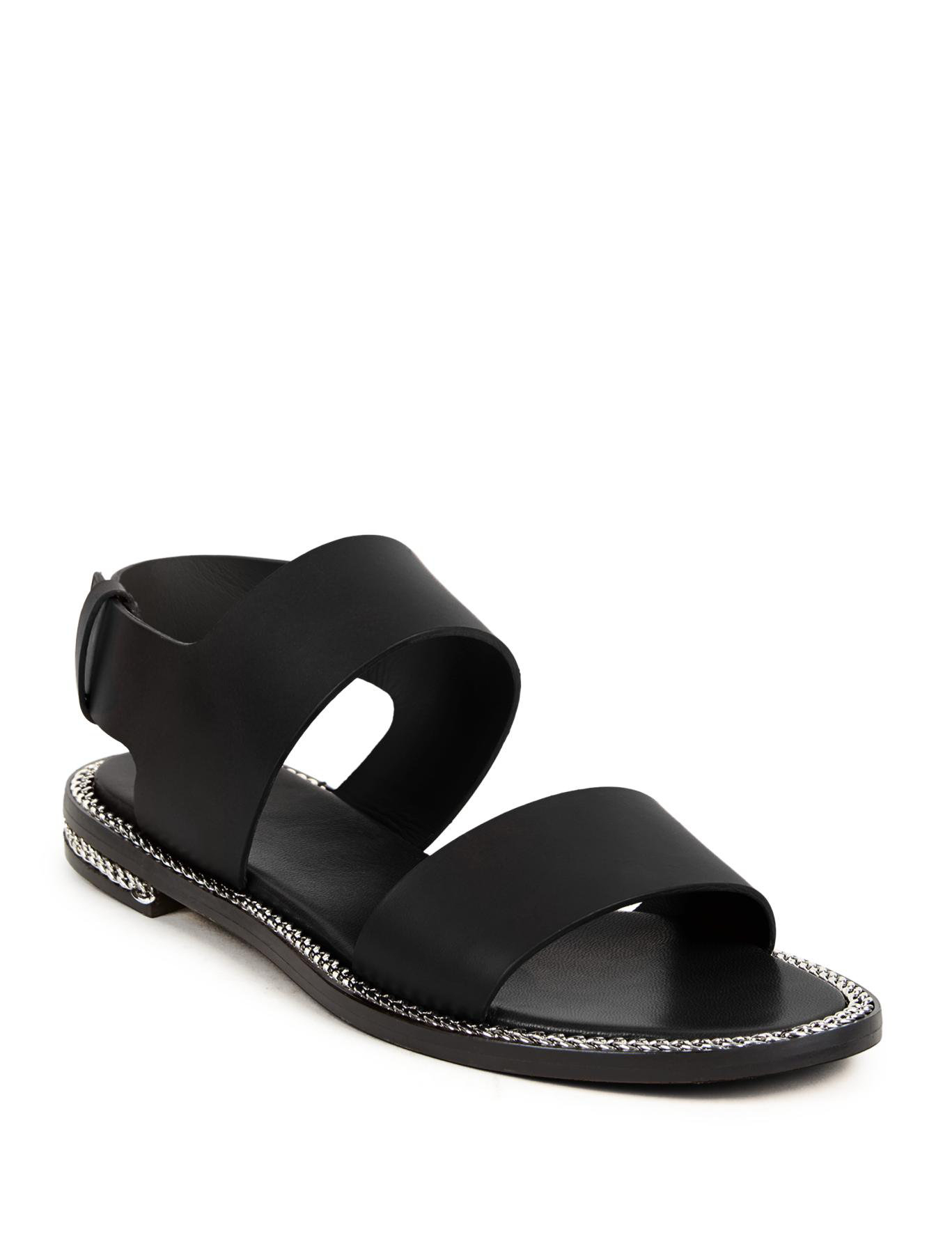 Chain-trimmed Leather Slippers - Black Givenchy hn6OiZlAds