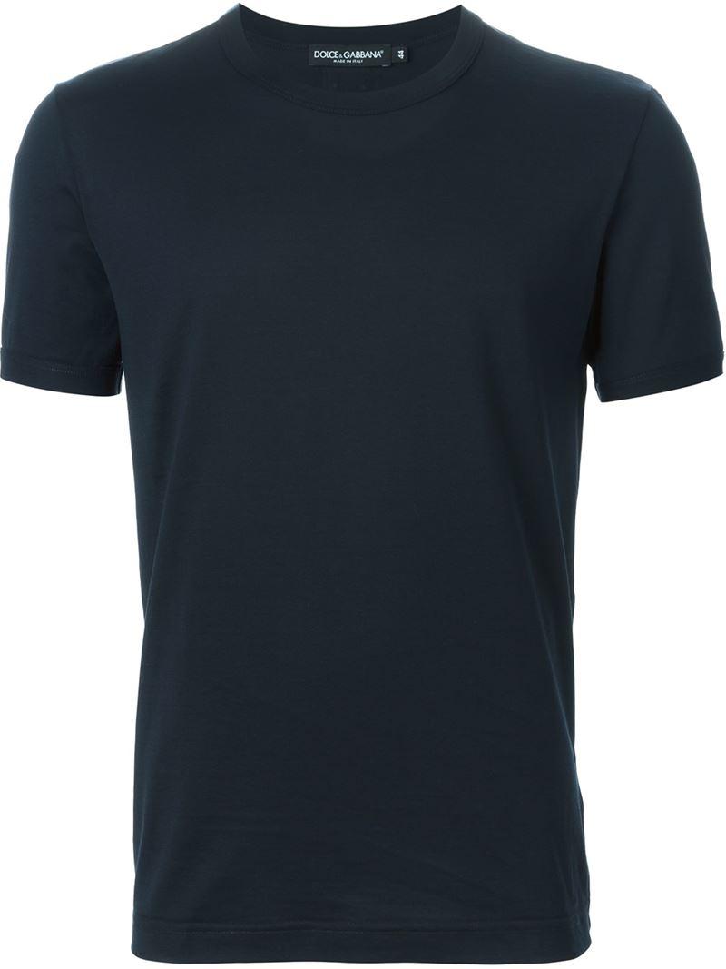 dolce gabbana round neck t shirt in blue for men lyst. Black Bedroom Furniture Sets. Home Design Ideas