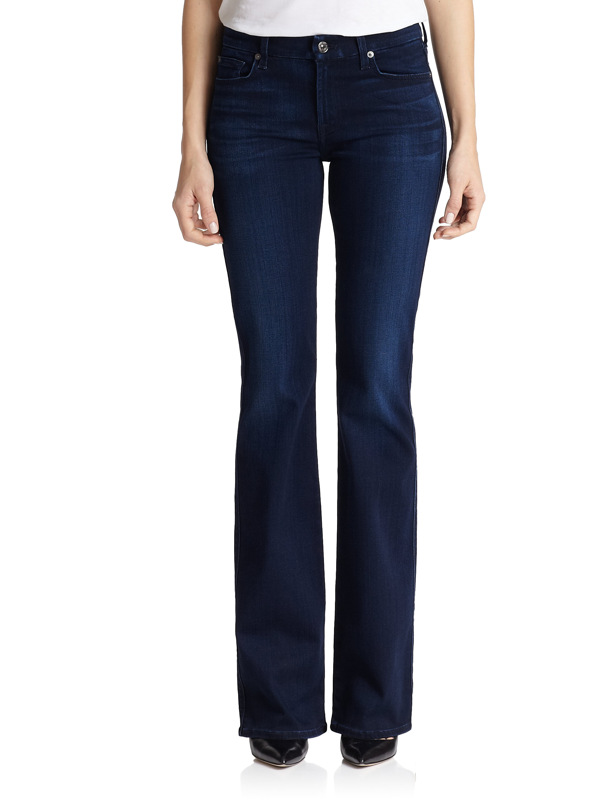 for all mankind kimmie bootcut jeans in blue lyst. Black Bedroom Furniture Sets. Home Design Ideas