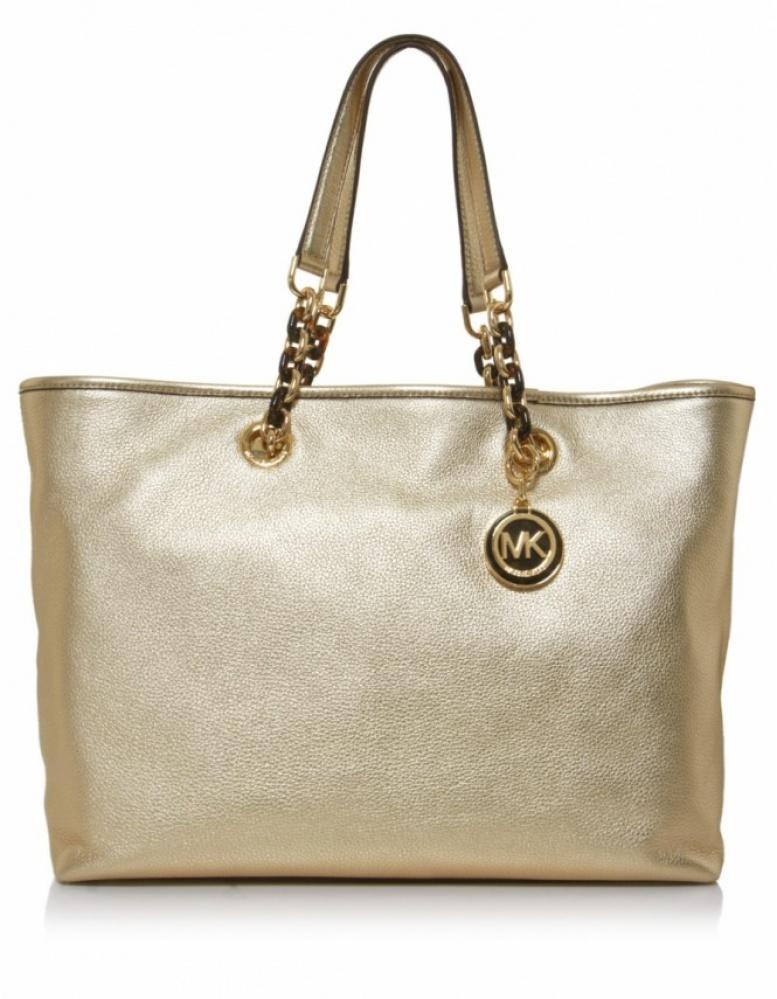 bad4ab20d49a Michael Kors Cynthia Large Tote Bag in Metallic - Lyst