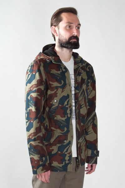 Lyle Amp Scott Hooded Camo Jacket In Multicolor For Men