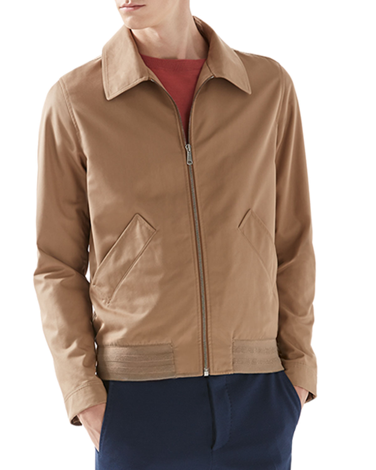 Gucci Classic Blouson Jacket In Brown For Men Lyst