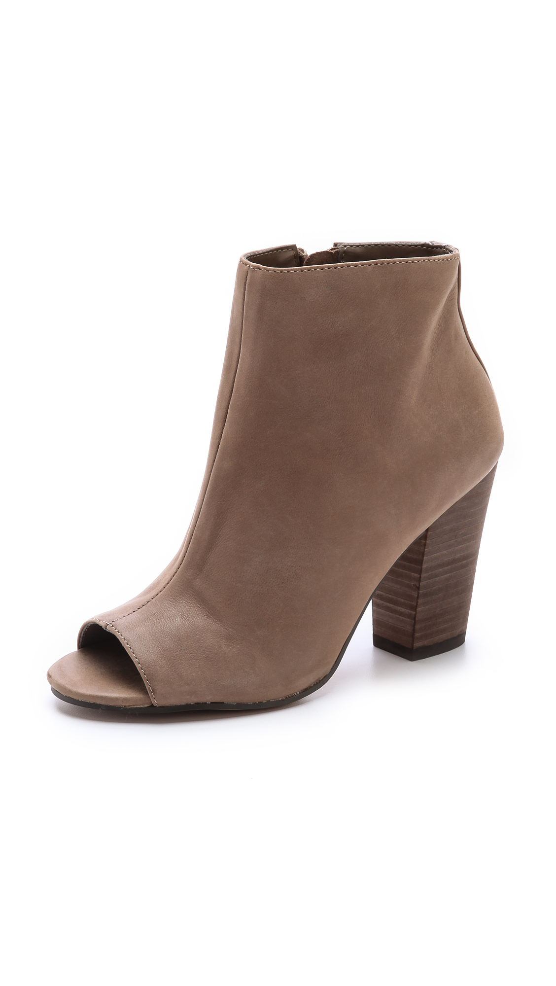 Lyst Steven By Steve Madden Clara Open Toe Booties In Brown