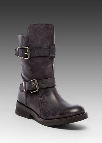 Image name steve madden caveat boot in black in black lyst