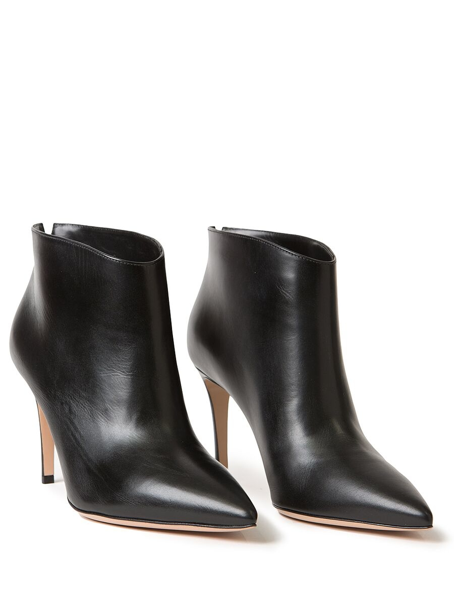 gianvito rossi leather ankle boots in black lyst. Black Bedroom Furniture Sets. Home Design Ideas