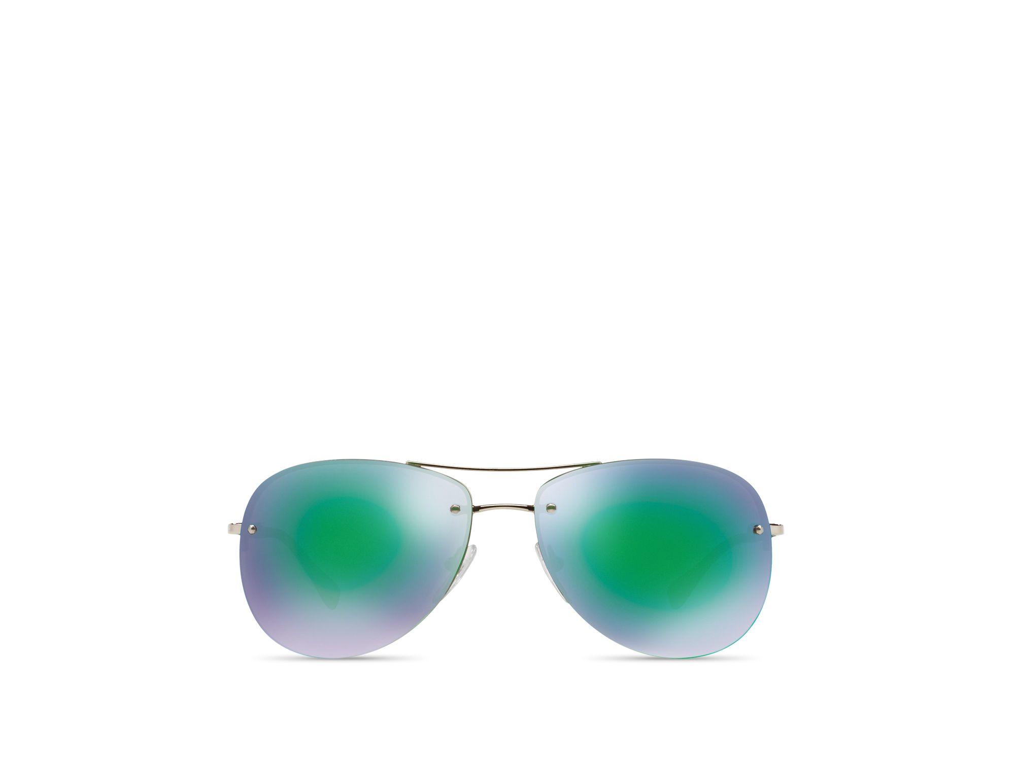 95c744d1a6ec1 Prada Rimless Aviator Sunglasses « Heritage Malta