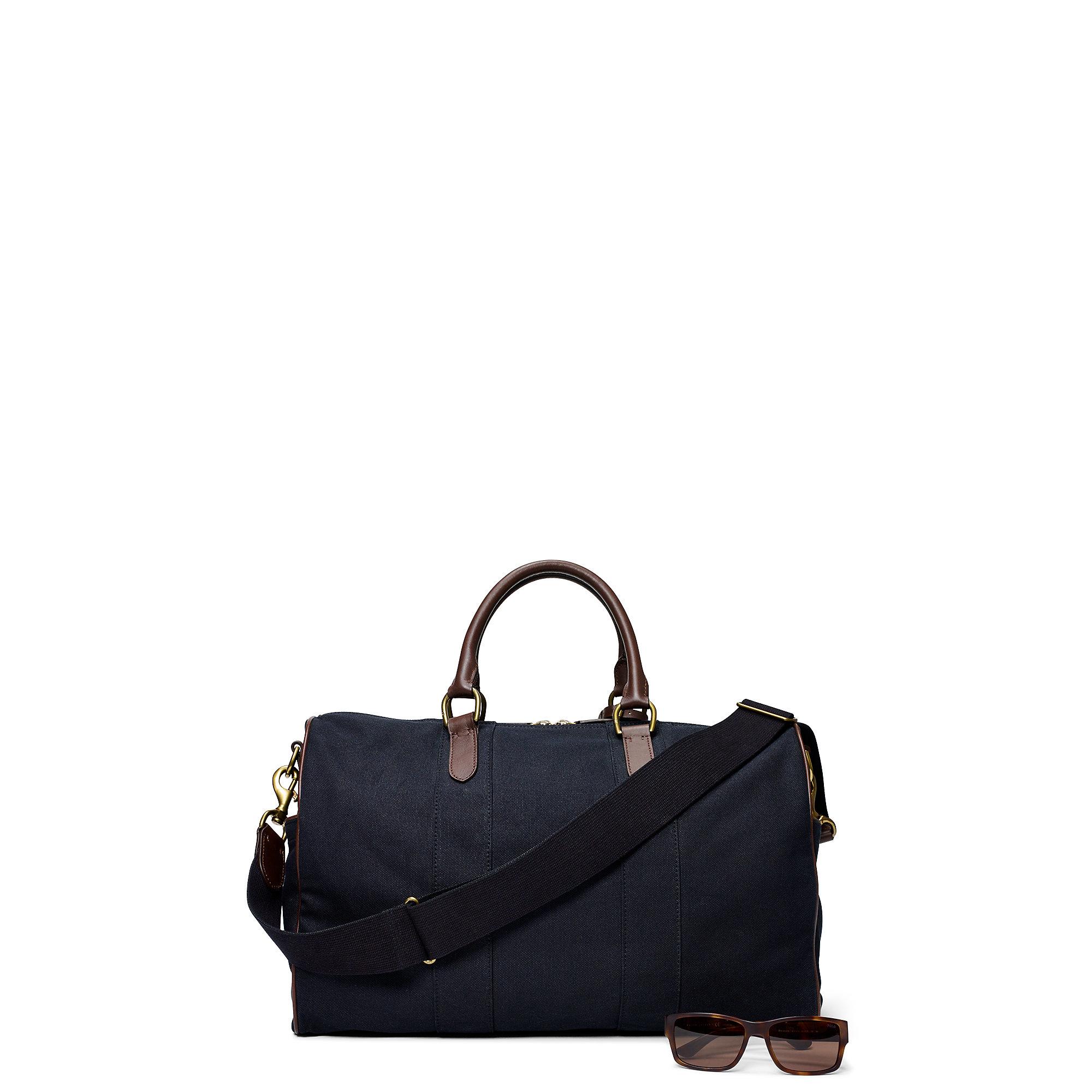 Lyst - Ralph Lauren Canvas Duffel Bag in Black for Men 3a8d8a0c4df8f