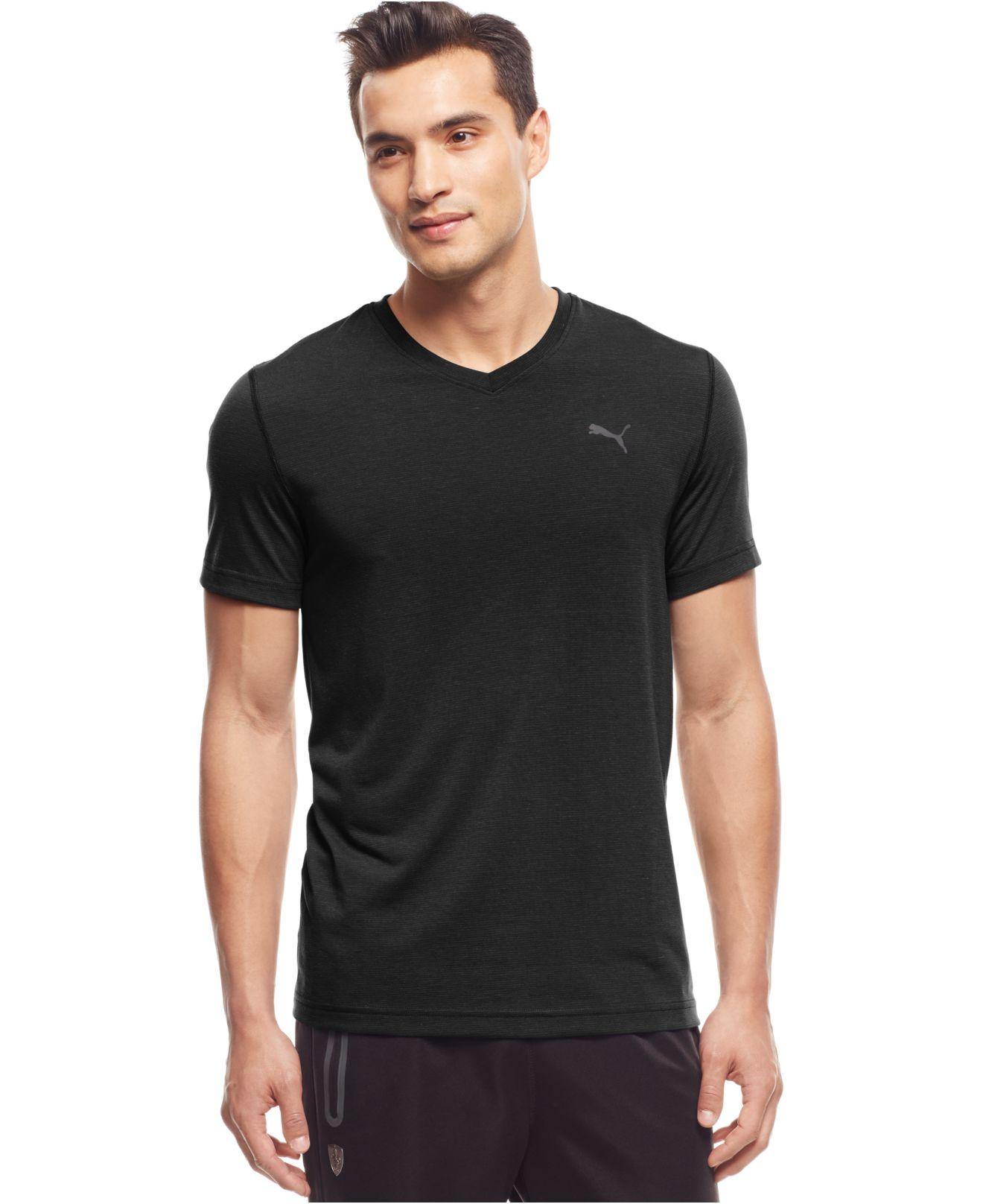 Puma Men 39 S Essential V Neck T Shirt In Black For Men Lyst