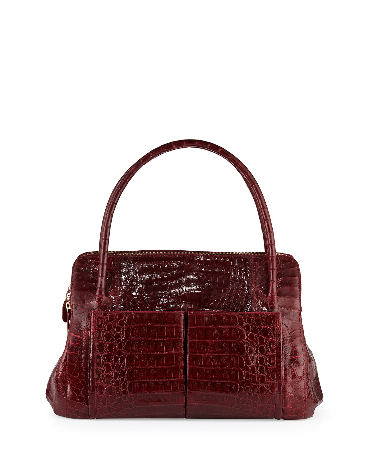 Nancy gonzalez linda medium crocodile tote bag lyst for Nancy gonzalez crocodile tote
