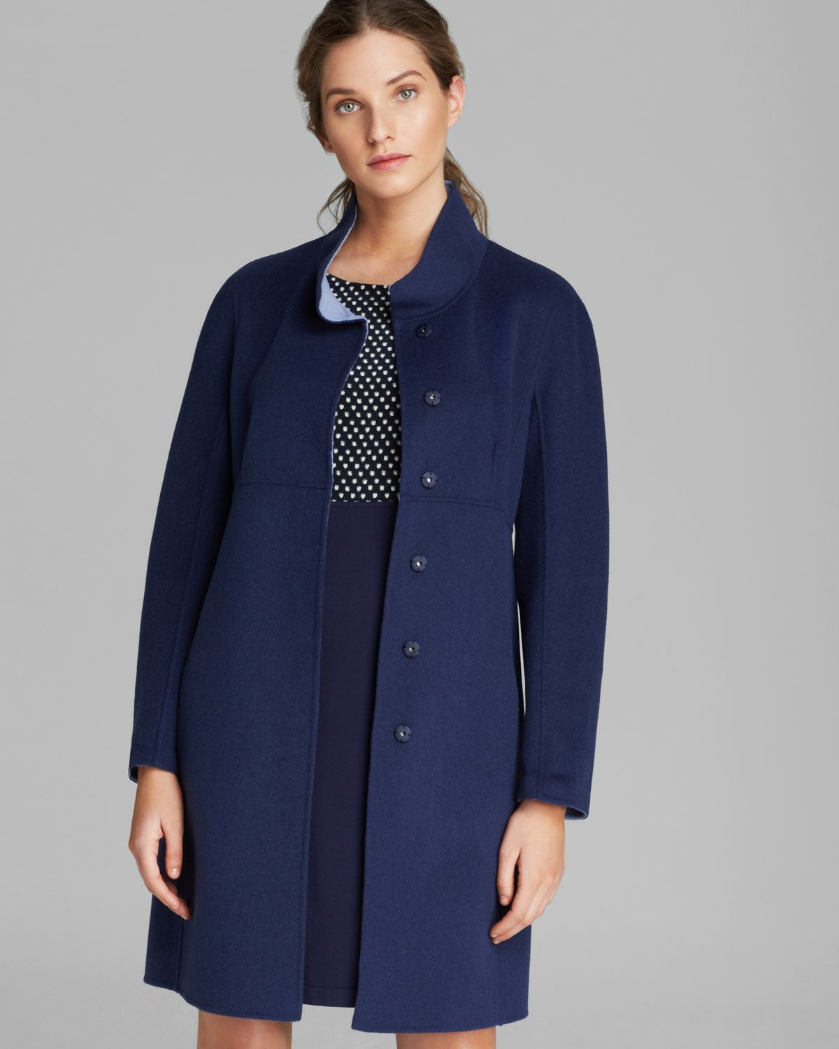 weekend by maxmara coat riom short in blue midnight blue lyst. Black Bedroom Furniture Sets. Home Design Ideas