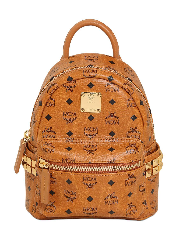 Mcm Bebe Boo Backpack In Brown Lyst