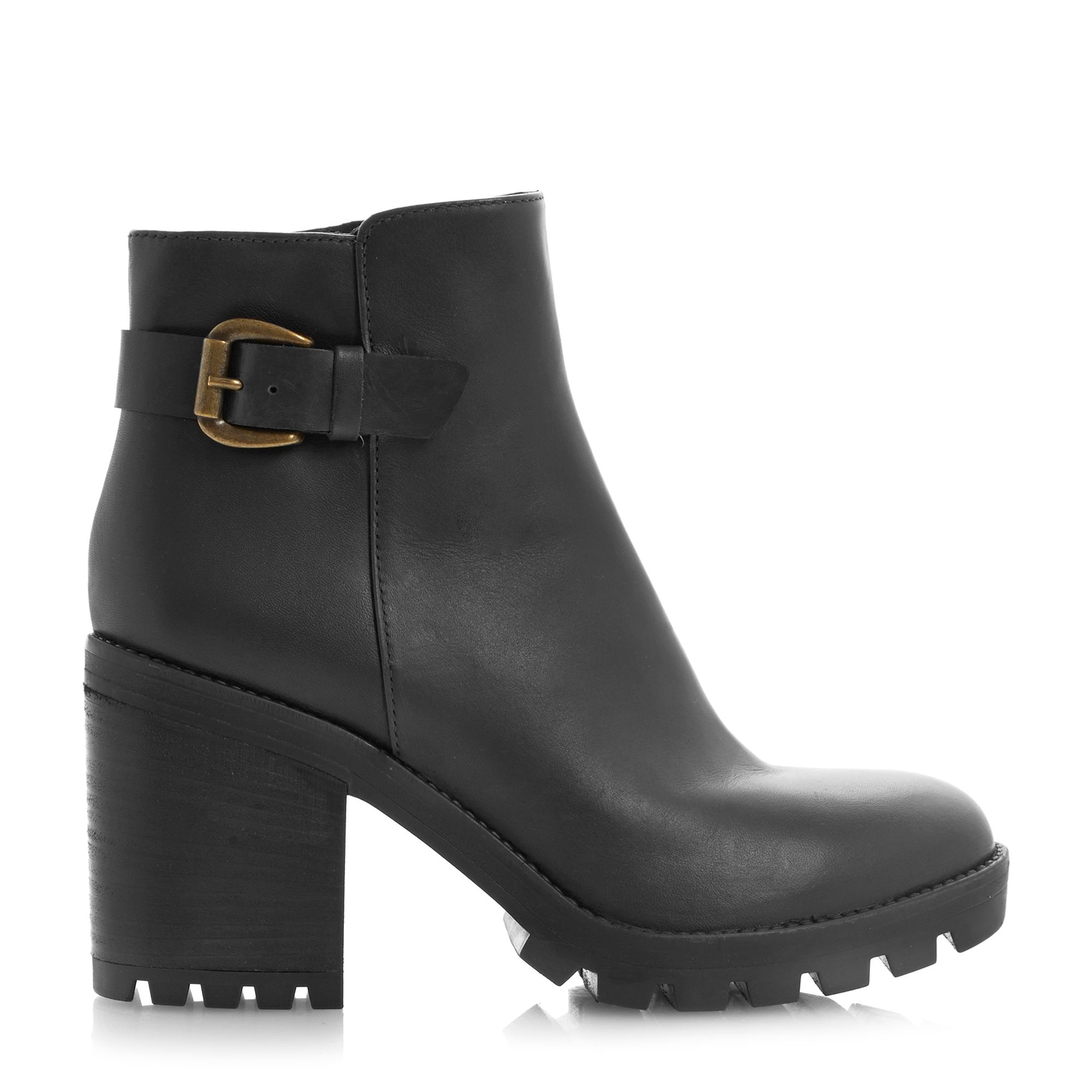 dune black playton ankle boot in brown lyst