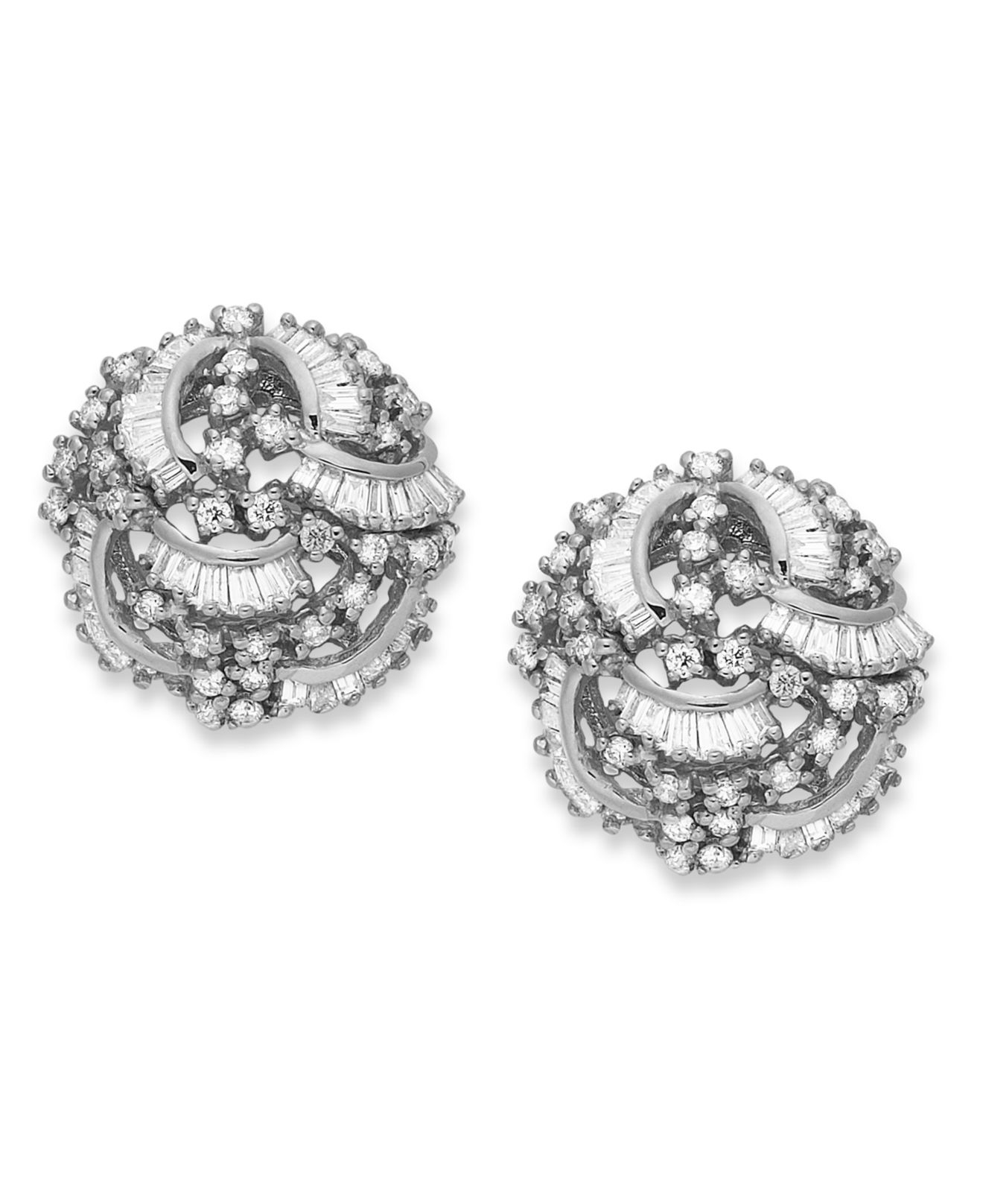 Effy Collection Classique By Diamond Swirl Earrings 1 2 Ct