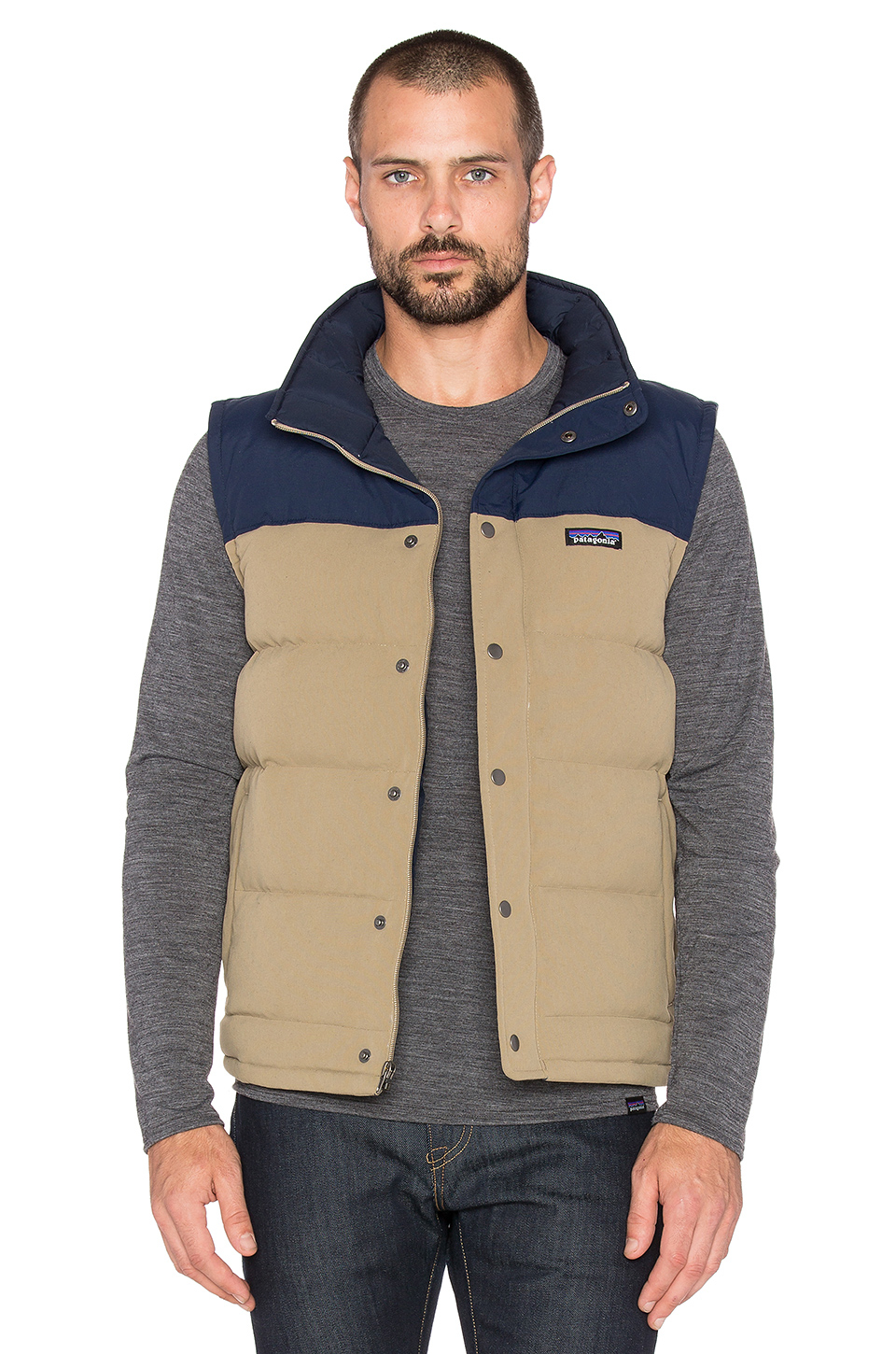 Lyst Patagonia Bivy Down Vest In Natural For Men