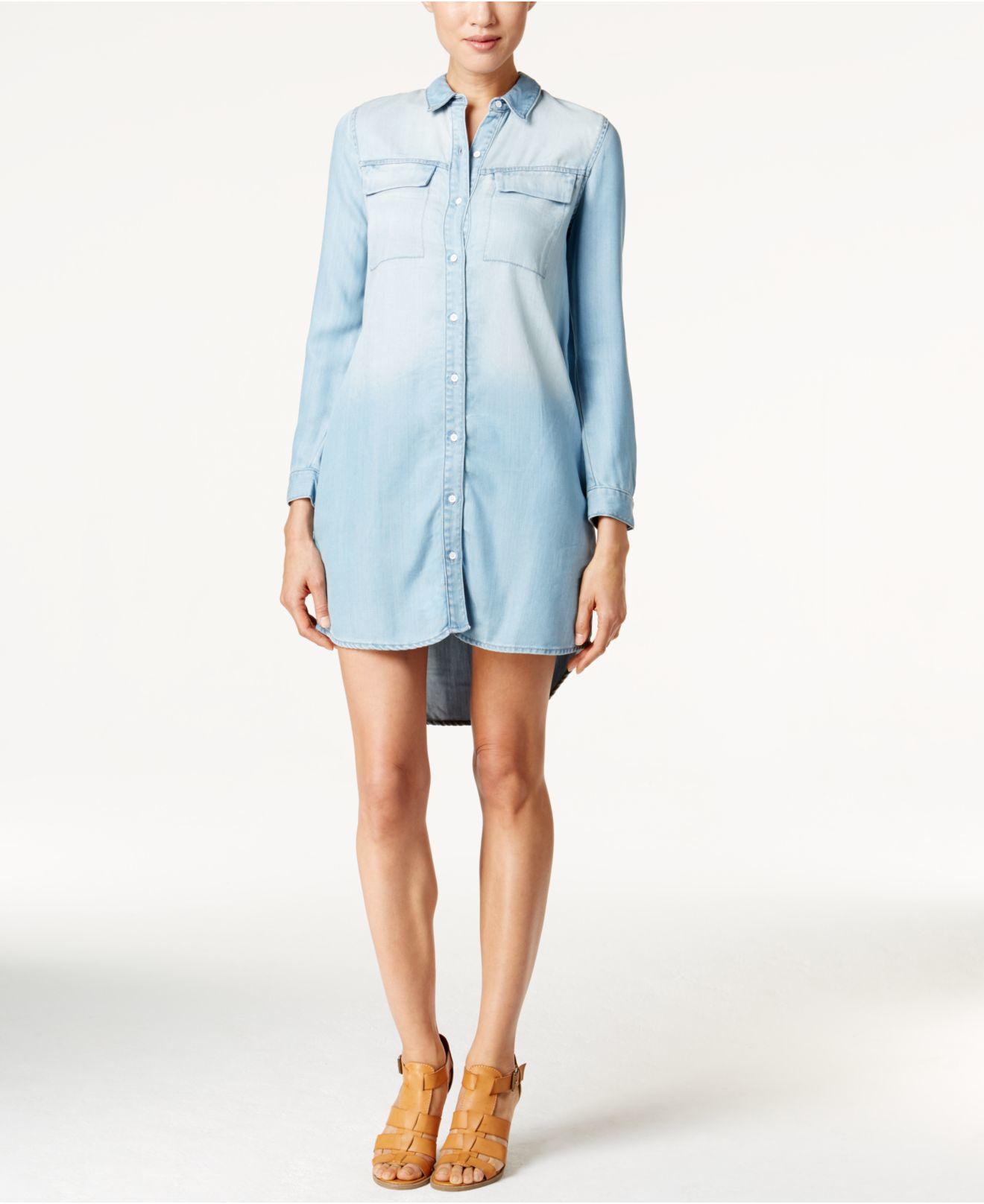 ce63bf2c0aa Lyst - Calvin Klein Button-down Denim Shirtdress in Blue
