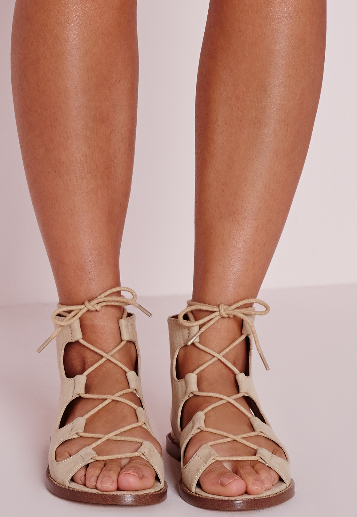 Tie Up Gladiator Heels - Is Heel