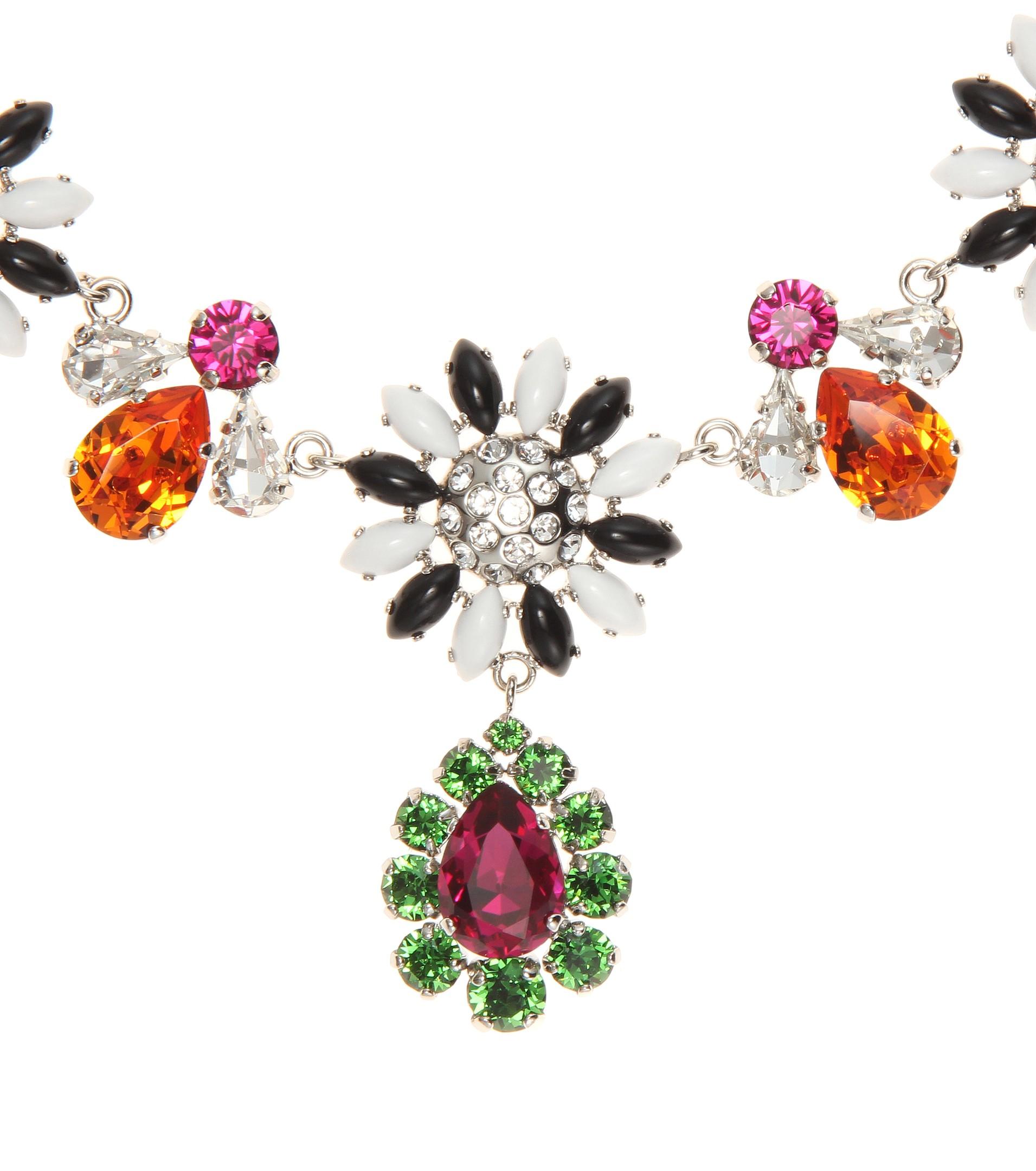 Miu Miu Crystal-embellished necklace x3S38y8my