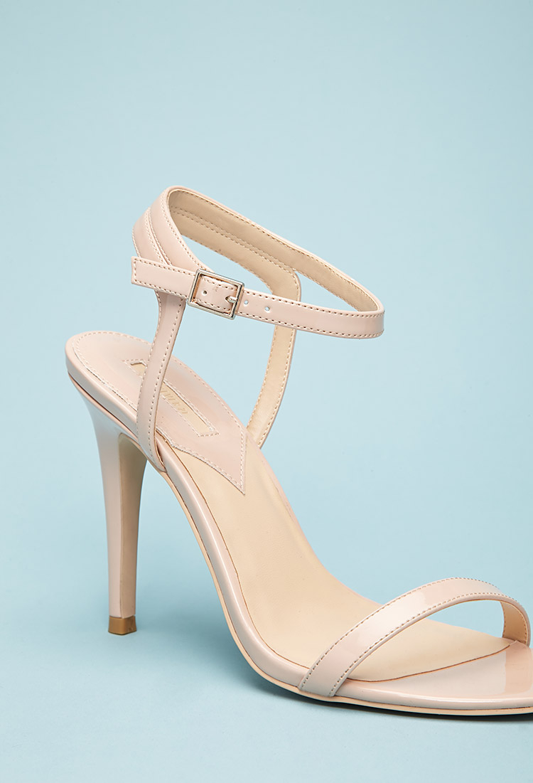 b3b7765e1ee Lyst - Forever 21 Faux Patent Leather Strappy Sandals You ve Been ...