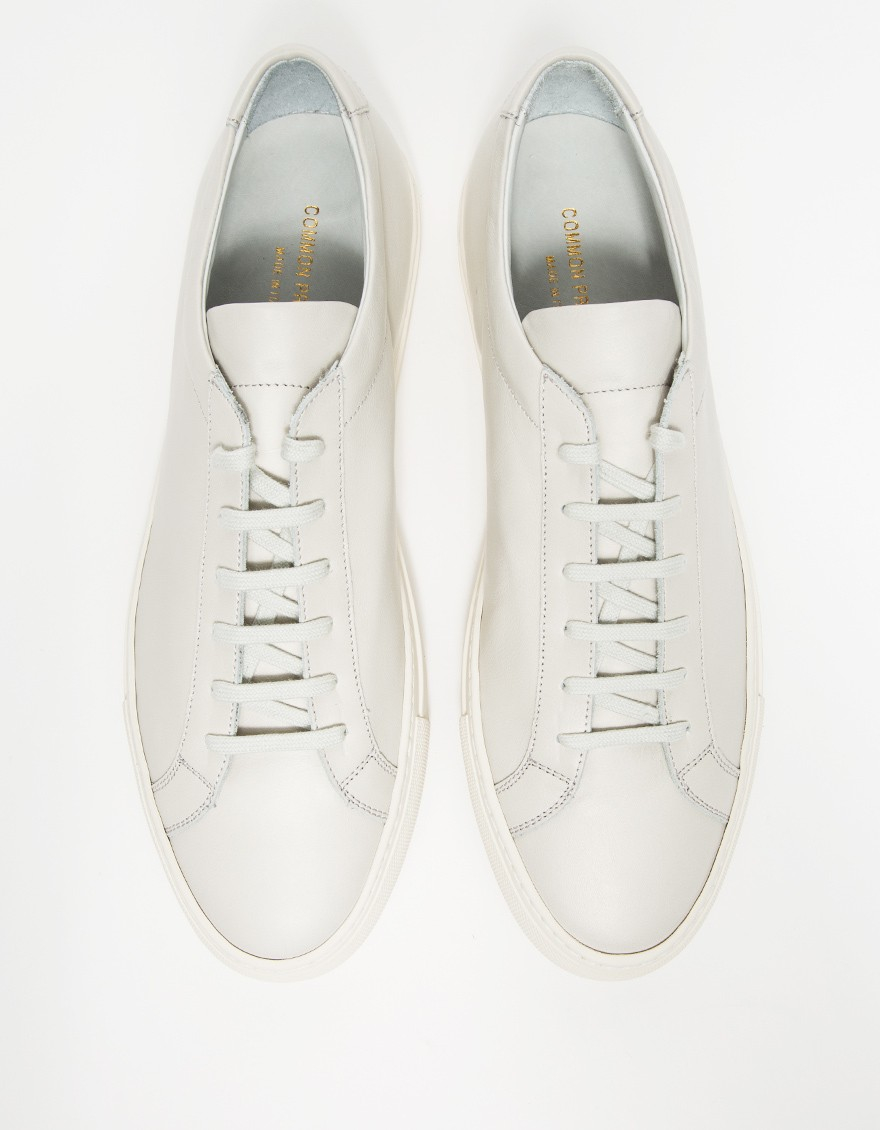 common projects original achilles leather low top sneakers in white for men off white lyst. Black Bedroom Furniture Sets. Home Design Ideas