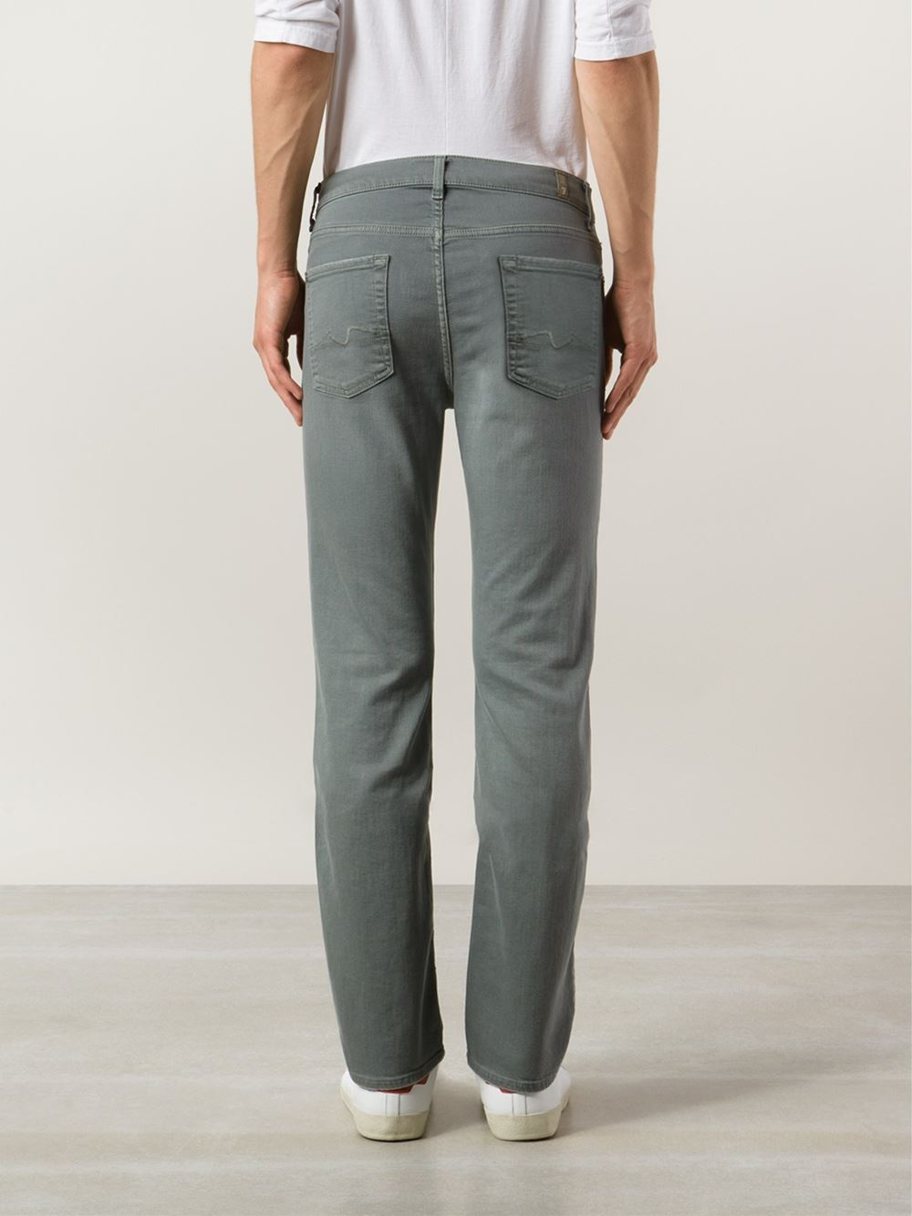 7 for all mankind 'The Slimmy' Jeans in Gray for Men | Lyst