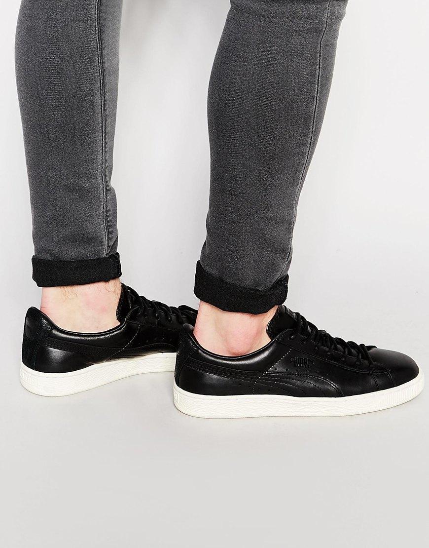 puma basket classic citi black sneakers