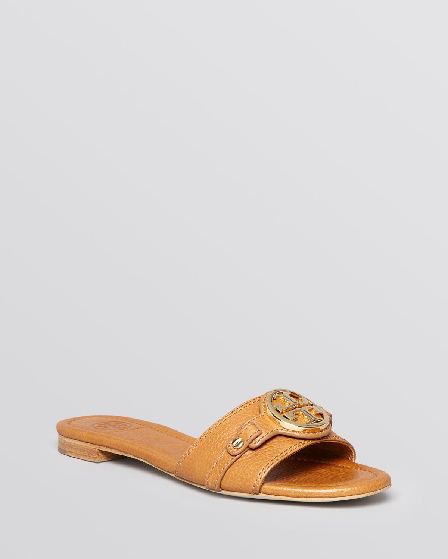 River Island Brown Flat Sandals