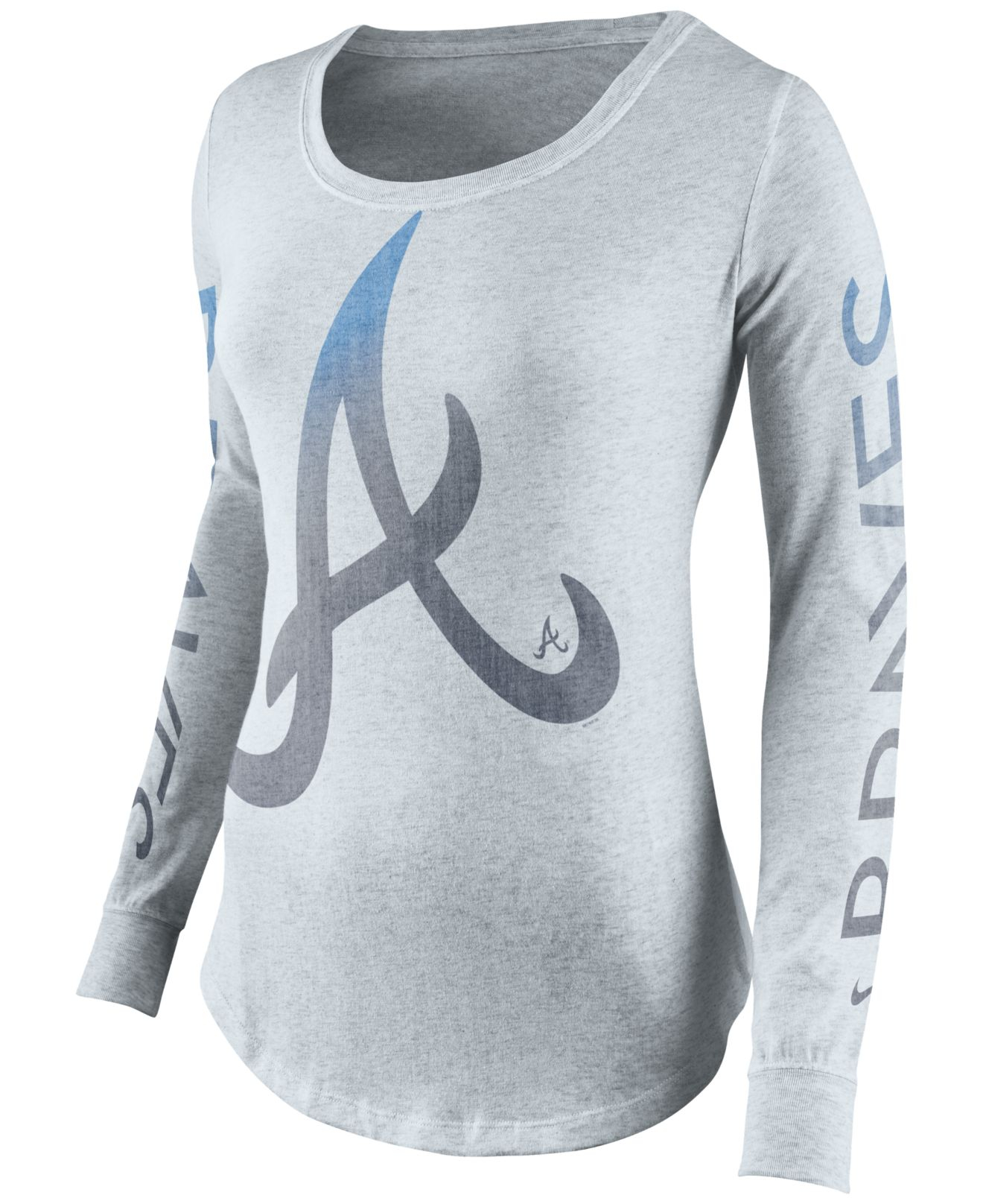 nike women 39 s atlanta braves t shirt in gray lyst. Black Bedroom Furniture Sets. Home Design Ideas