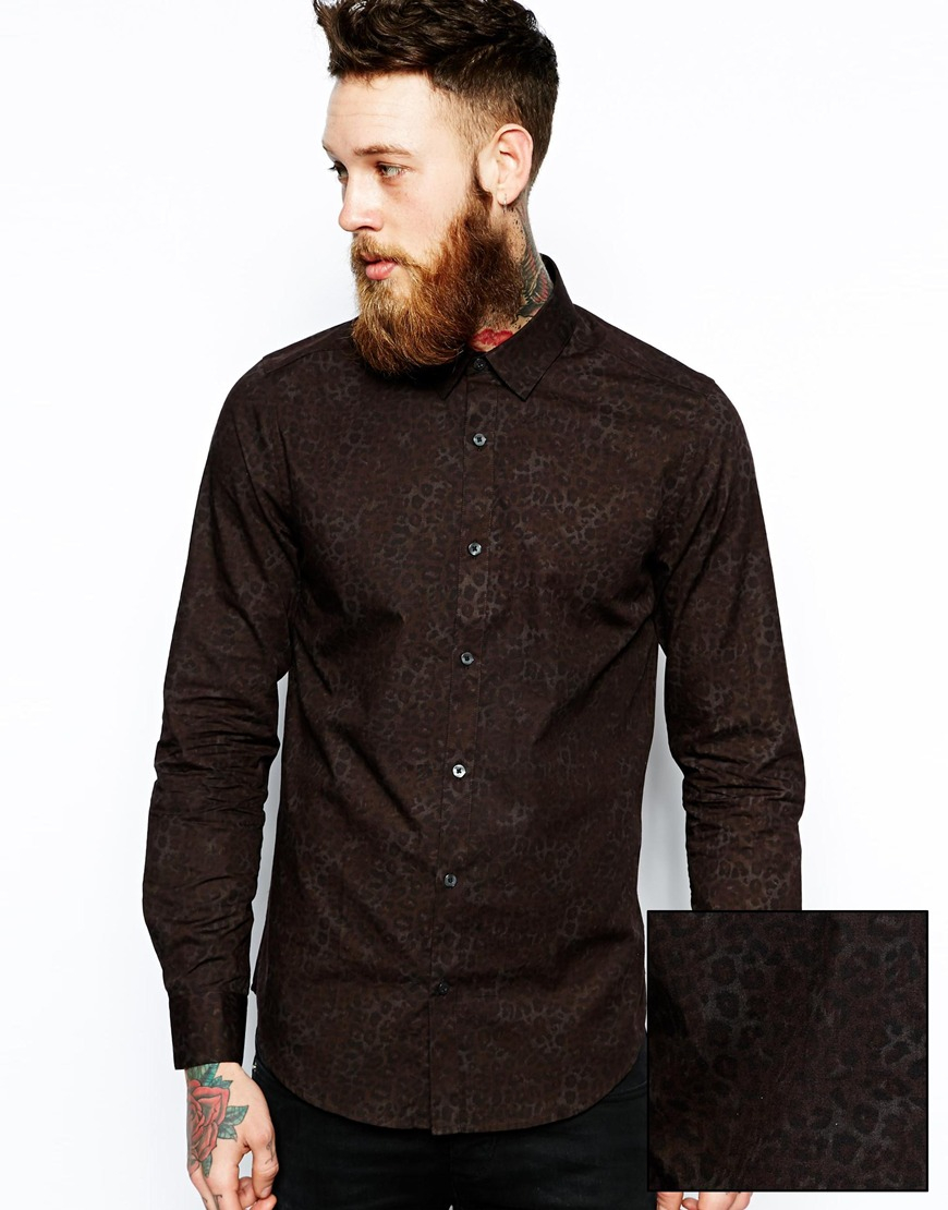 Mens Brown Long Sleeve Shirt | Artee Shirt