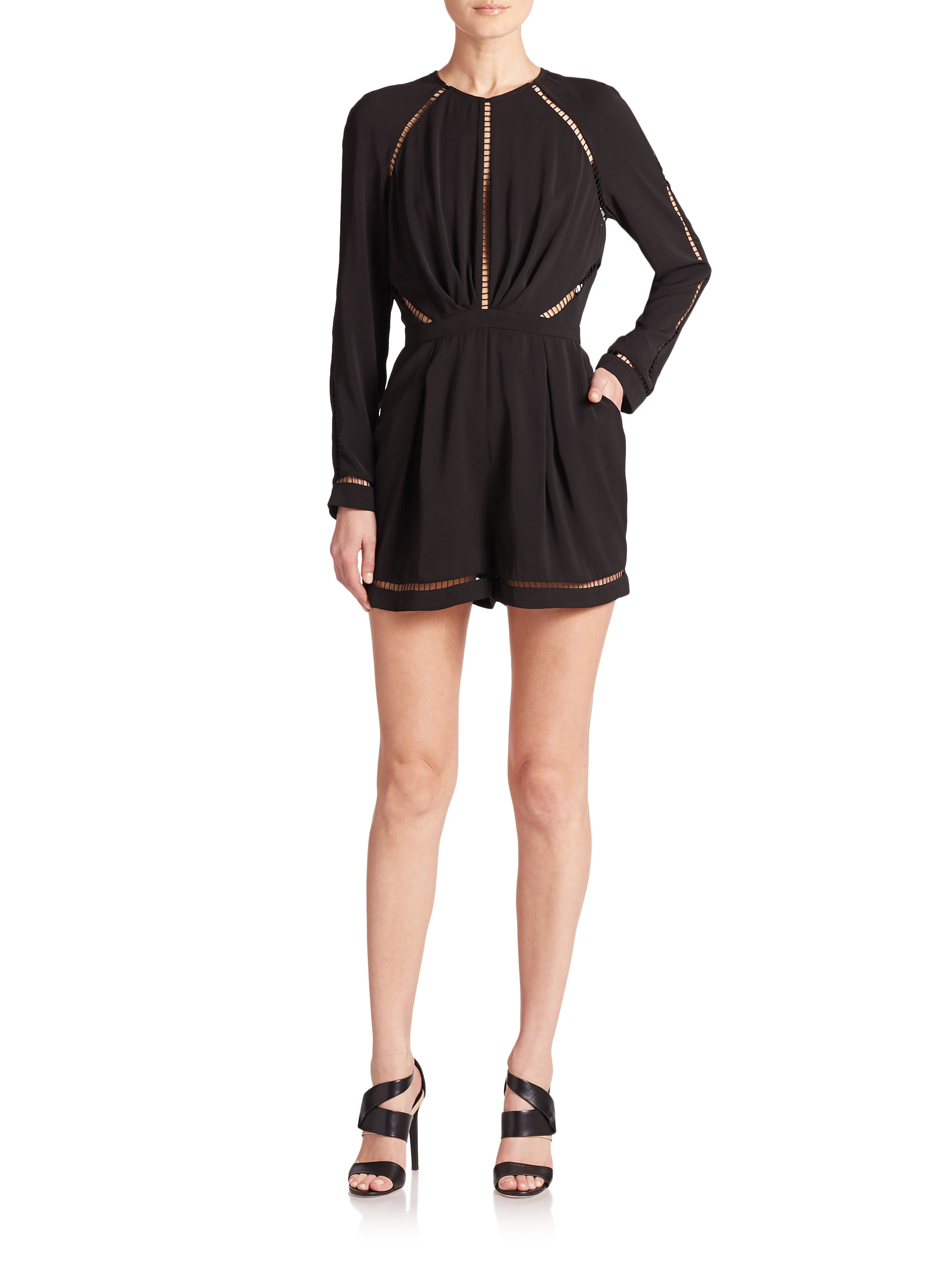 663e627fd9c Lyst - Zimmermann Ladder-stitched Short Jumpsuit in Black